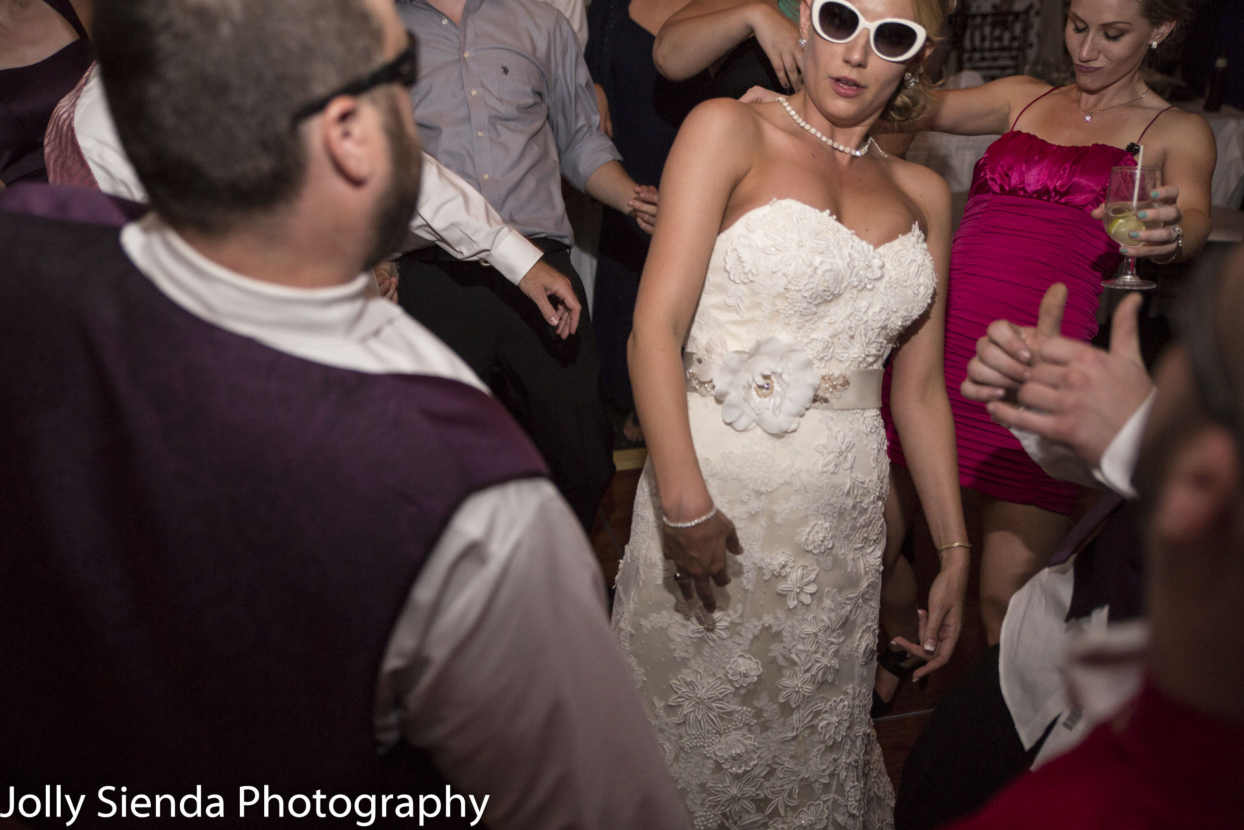 Wedding reception crazy portrait photography