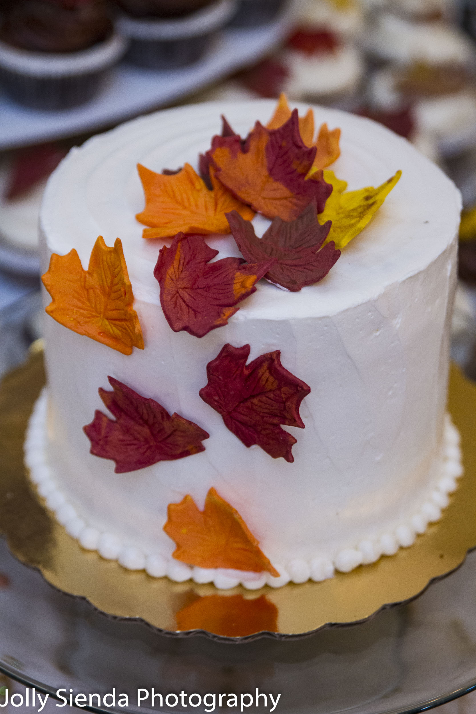 Grooms Autumn Wedding Cake