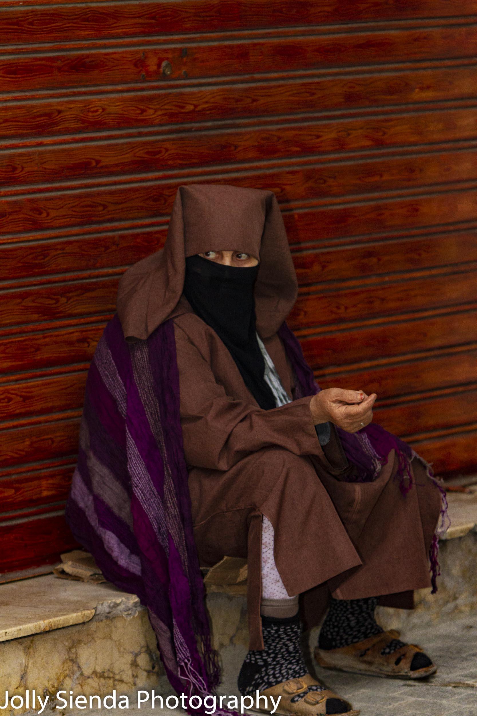 Portrait of a woman wearing a jabala
