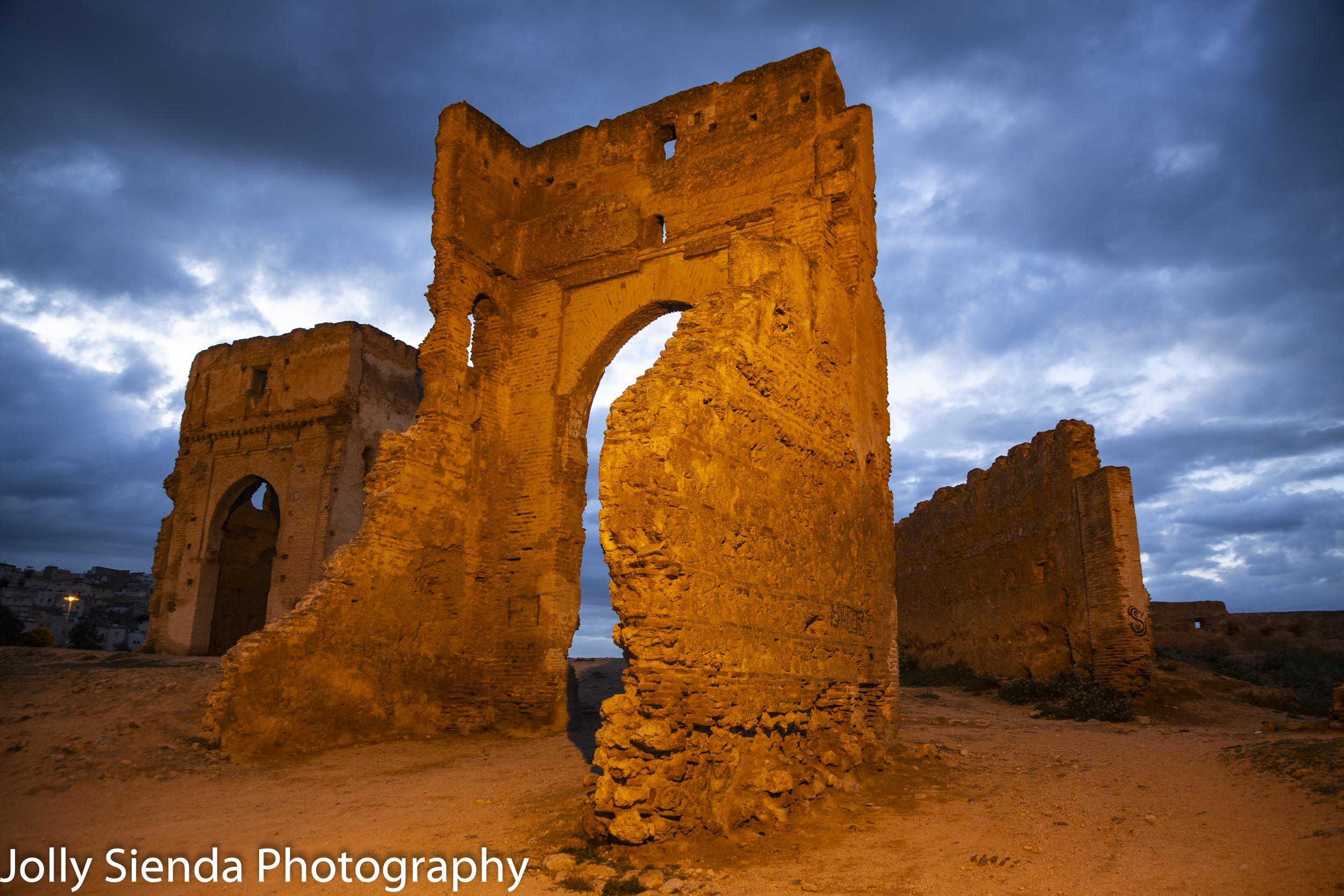 Merinides Tombs at night