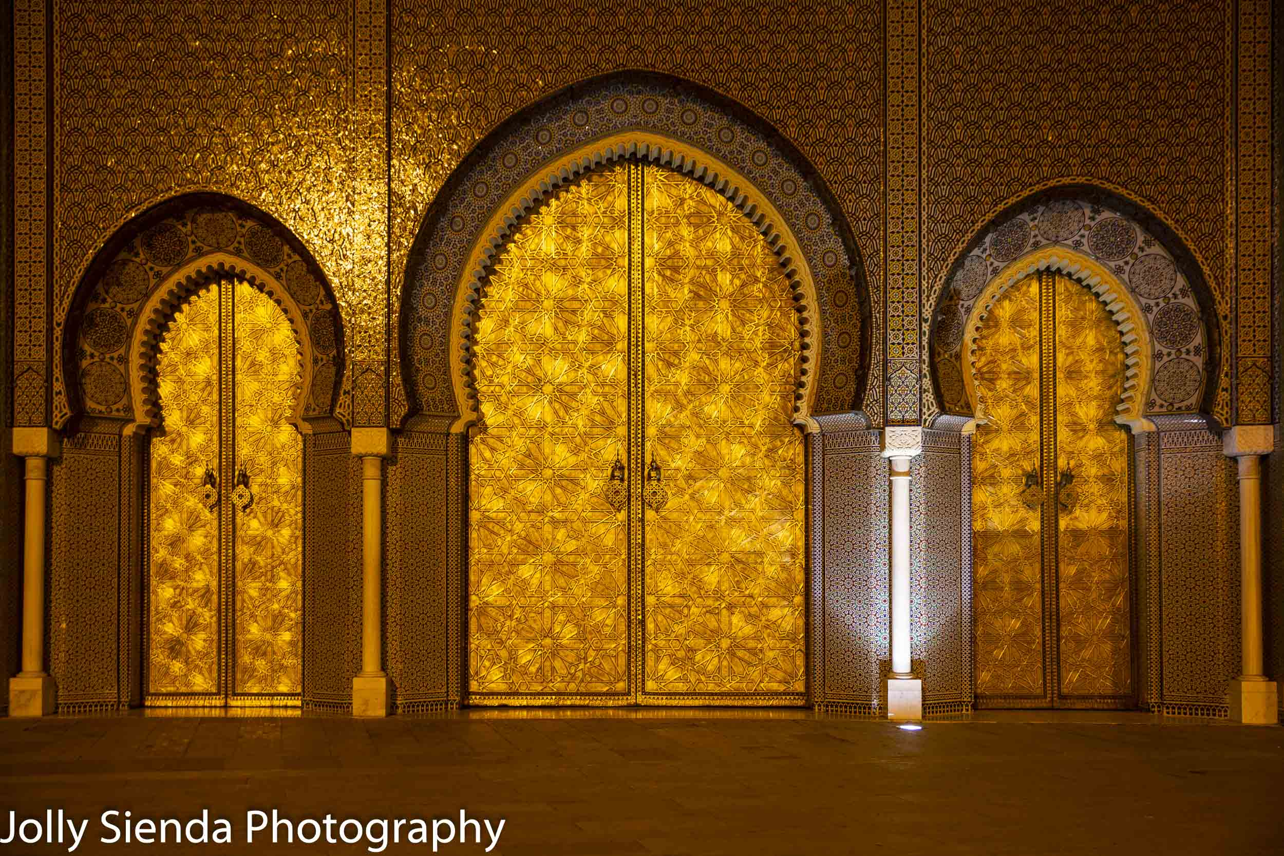 Golden doors to the Royal Palace of Fez
