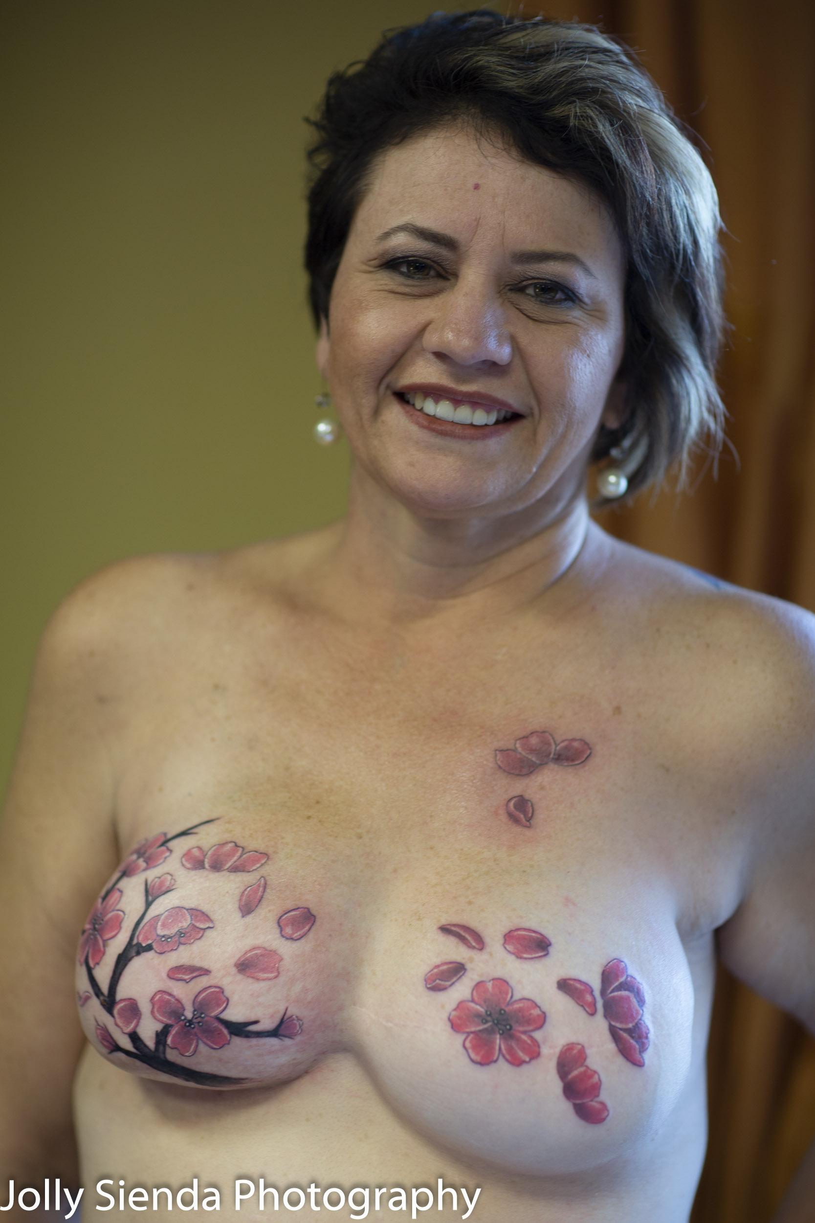 Breast Cancer Survivors get Mastectomy Tatoos