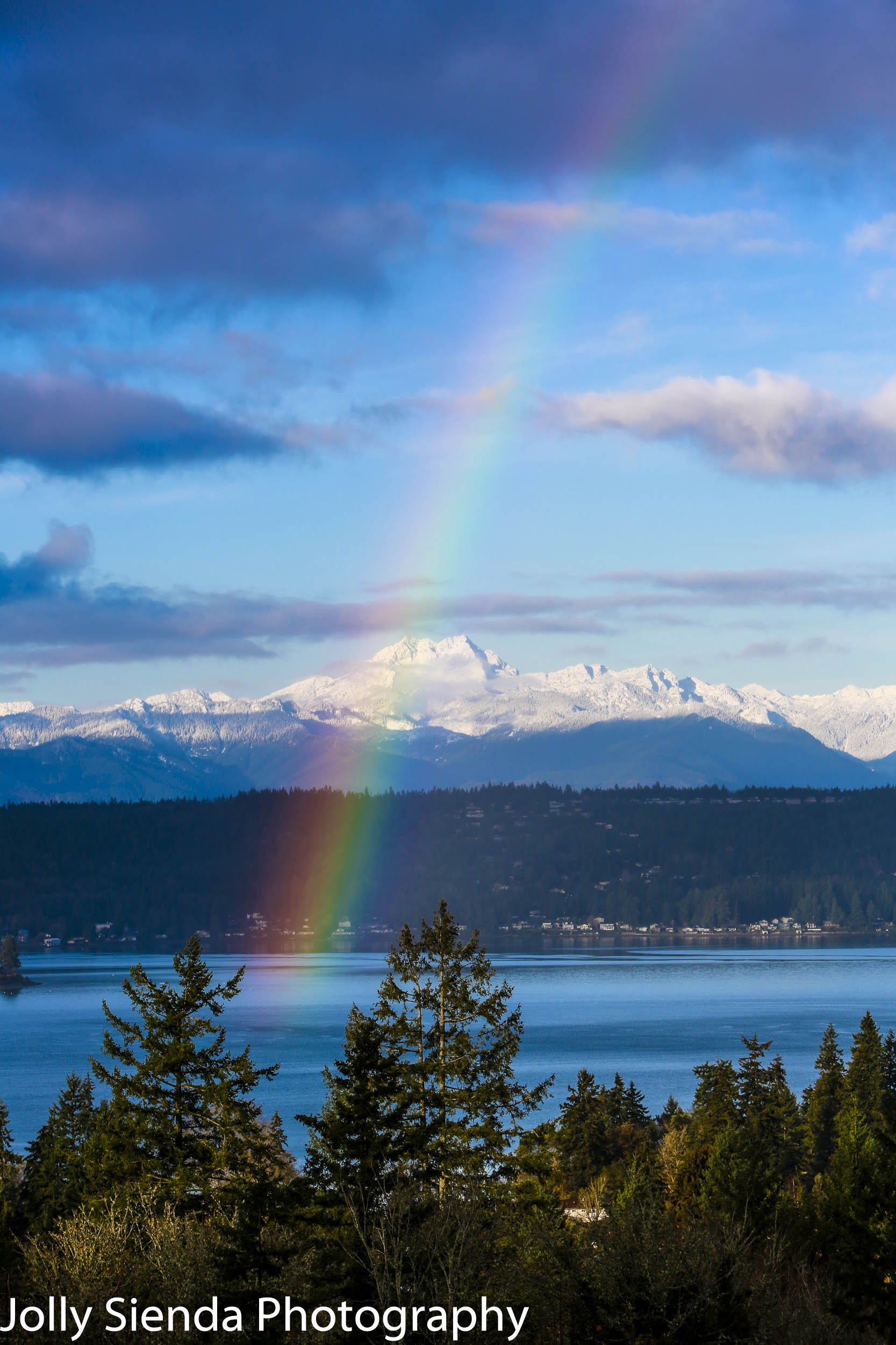 Rainbow over The Brothers Mountain and Dyes Inlet