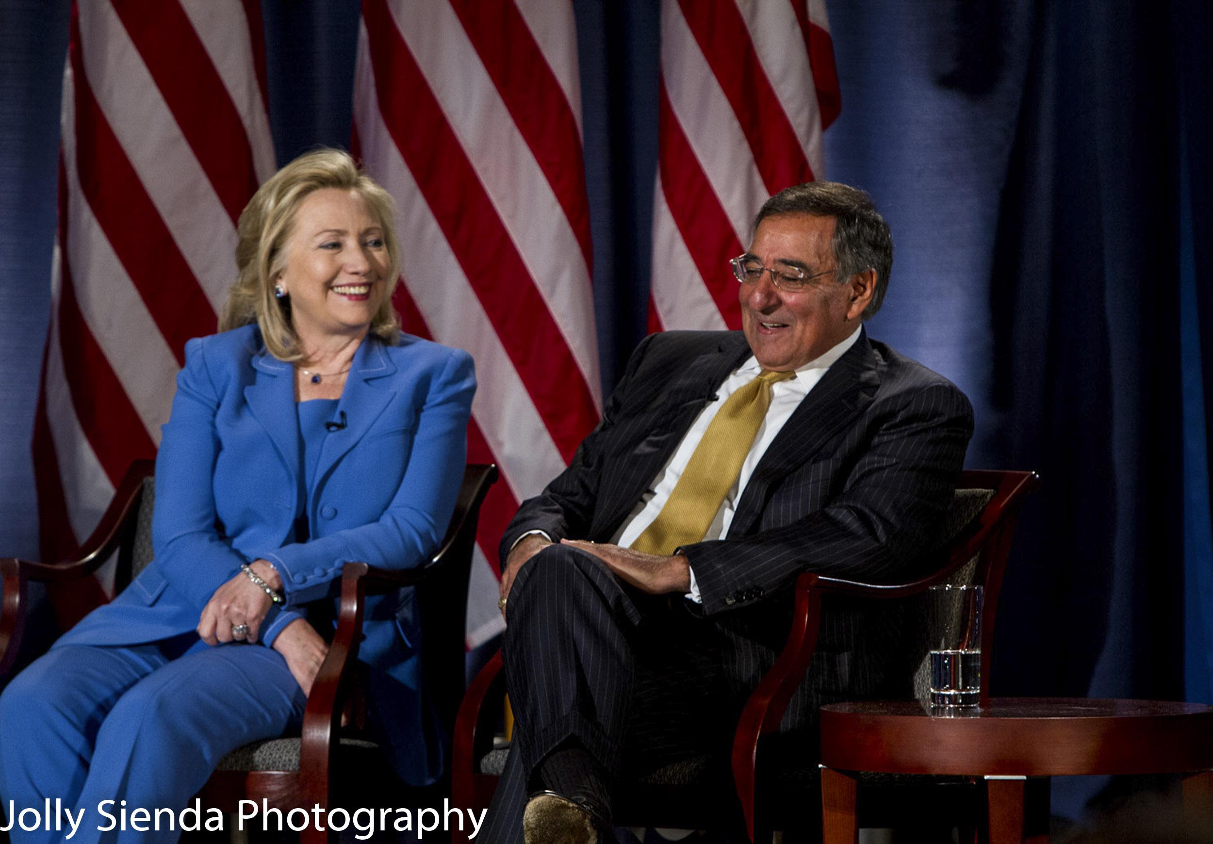 Secretary of State Hillary Clinton and Secretary of Defense Leon