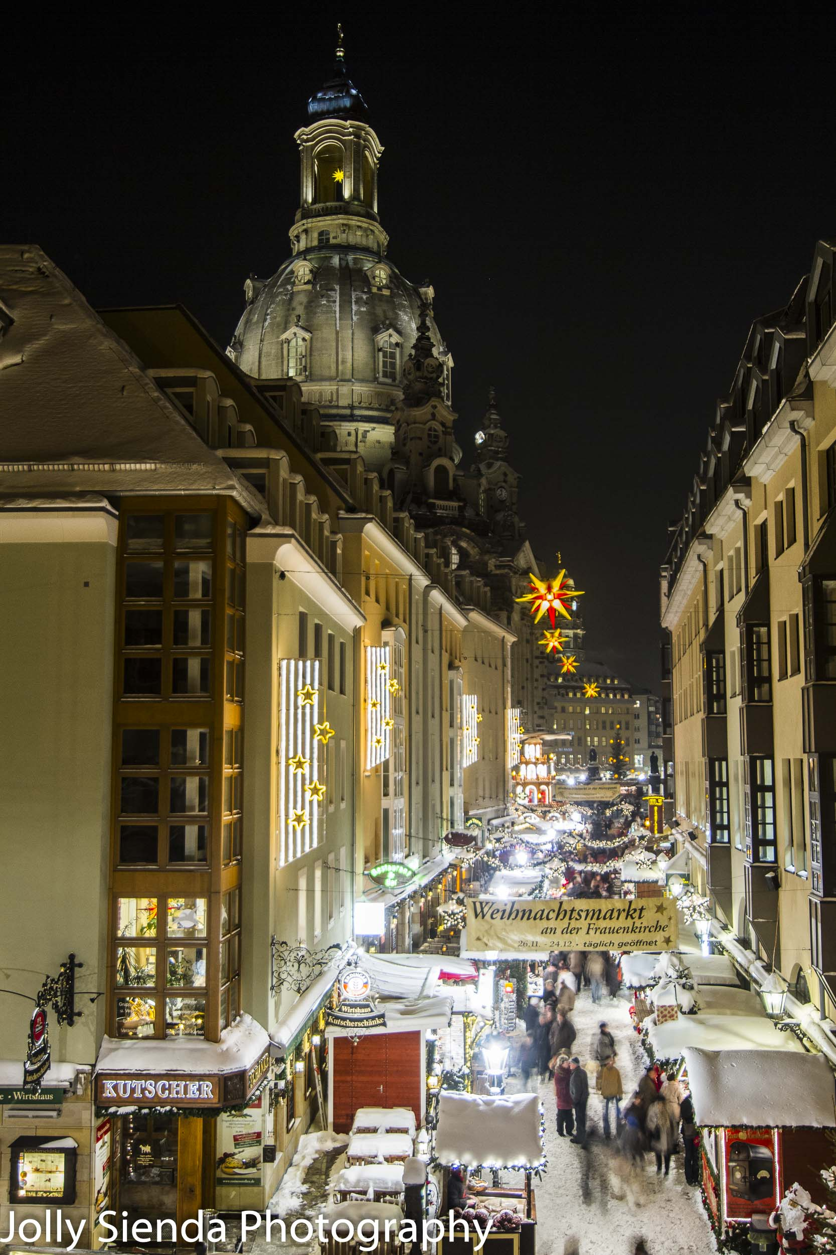 Dresden Christmas Market, Weihnachsmarkt,  with the Ladys Church