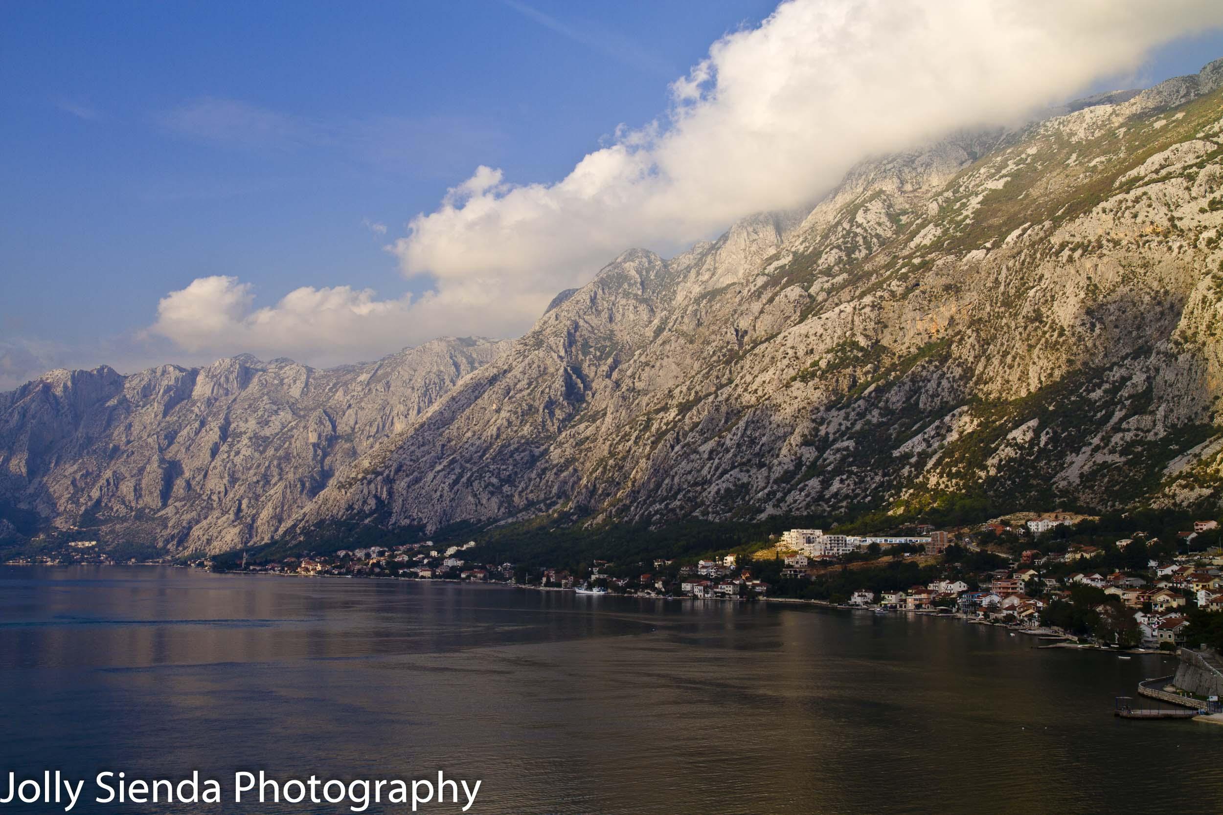 Montenegro mountainess coastline