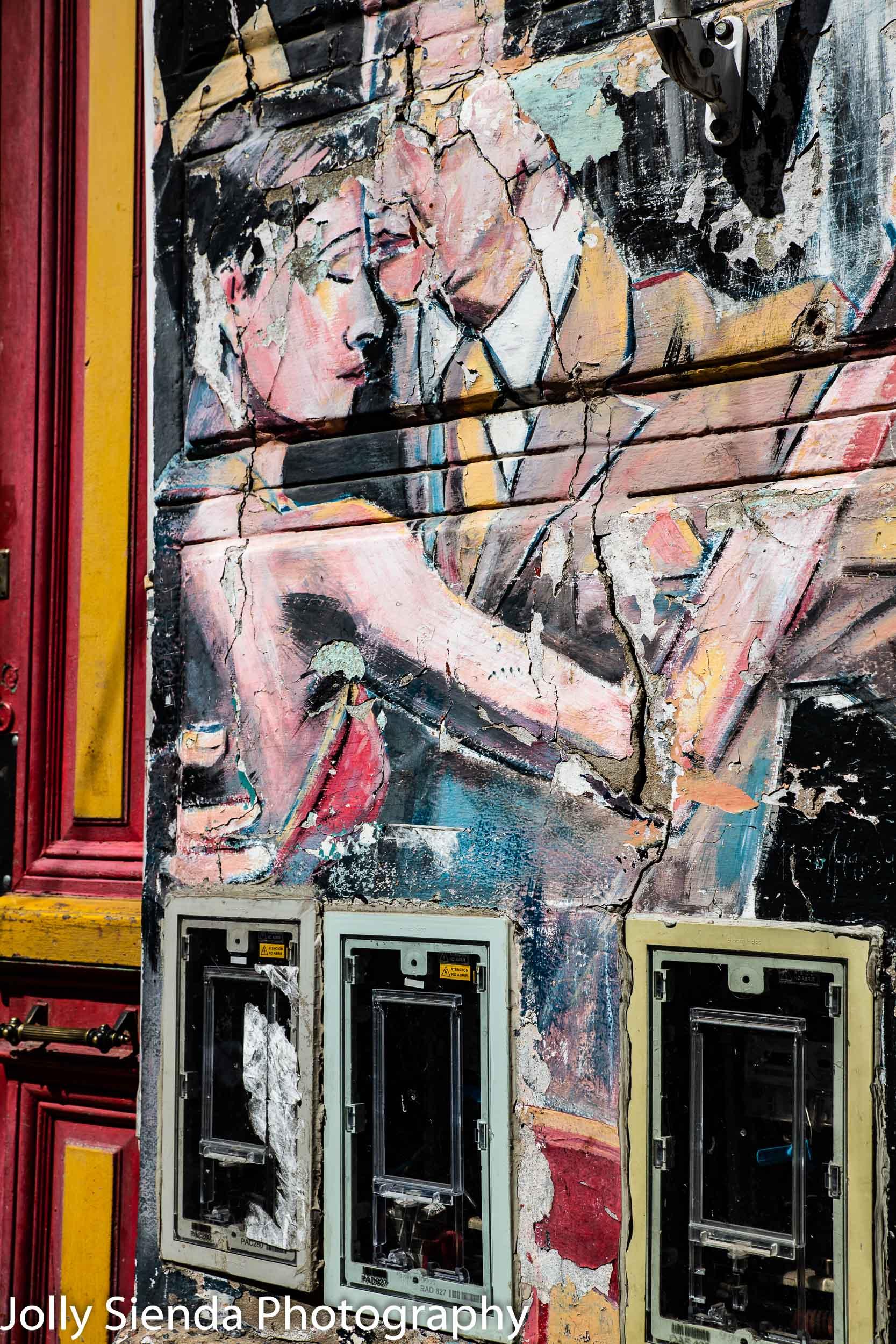 Tango, La Boca, graffiti wall