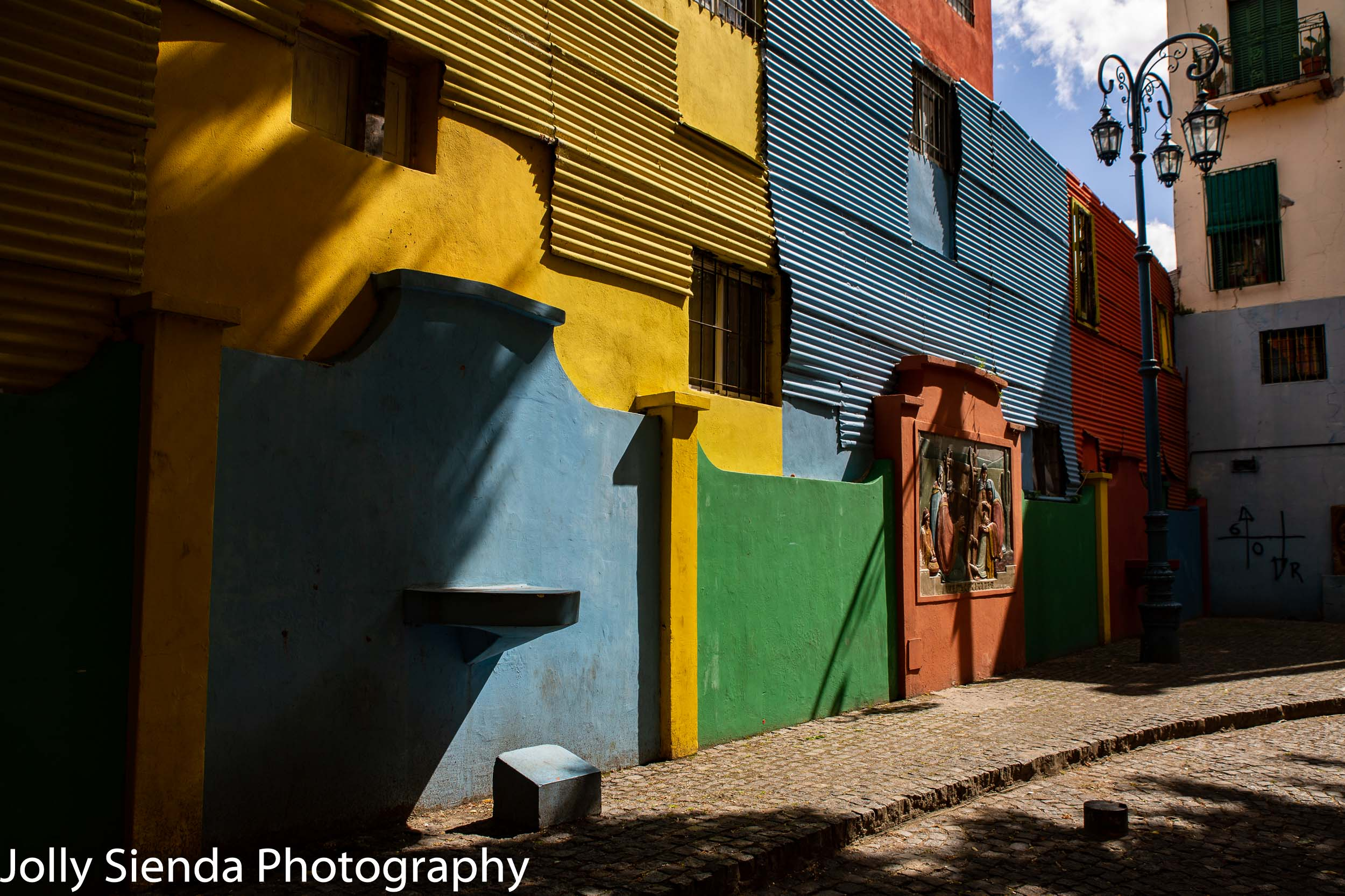 Colored buildings of La Boca