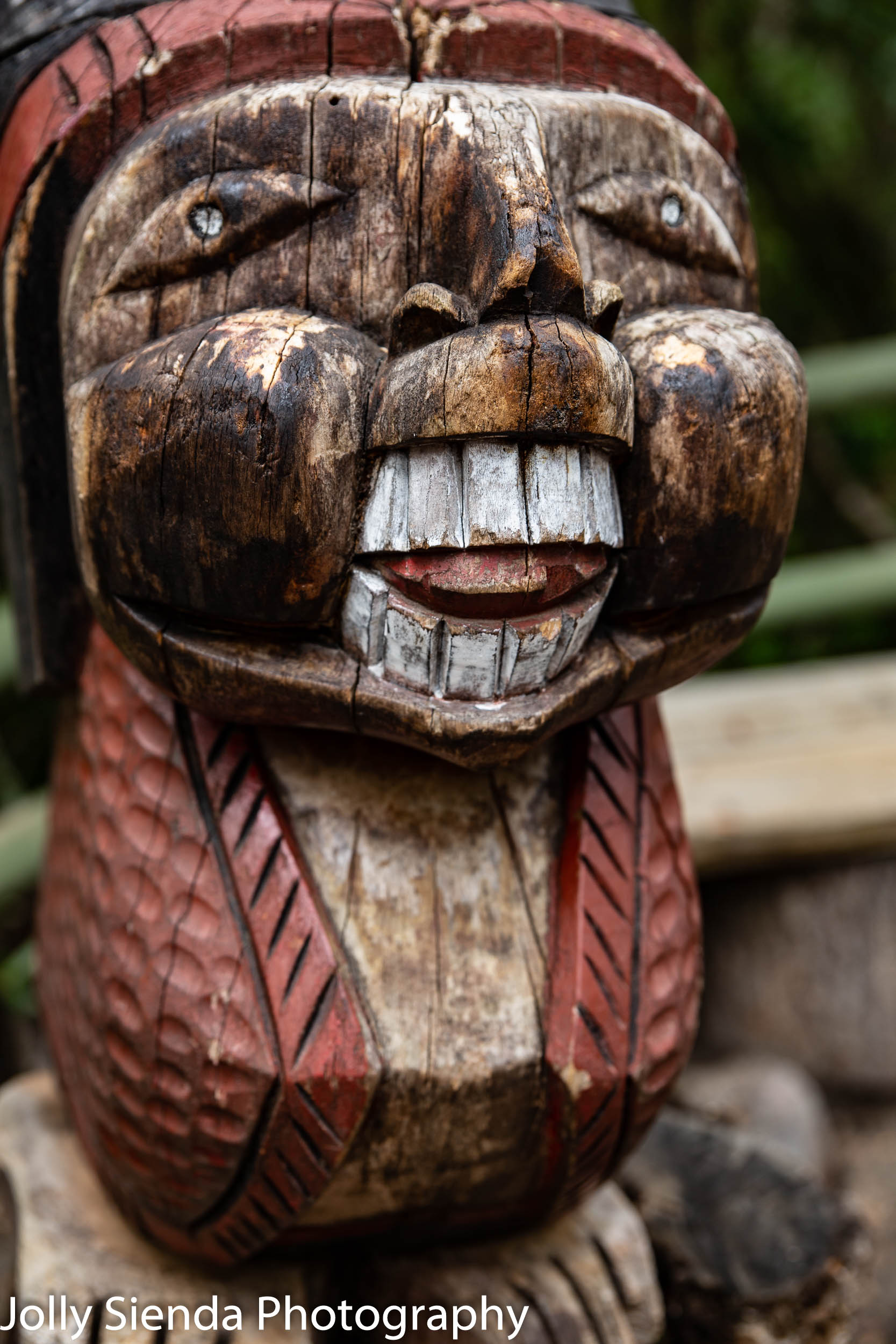 Chilean folk wood carving