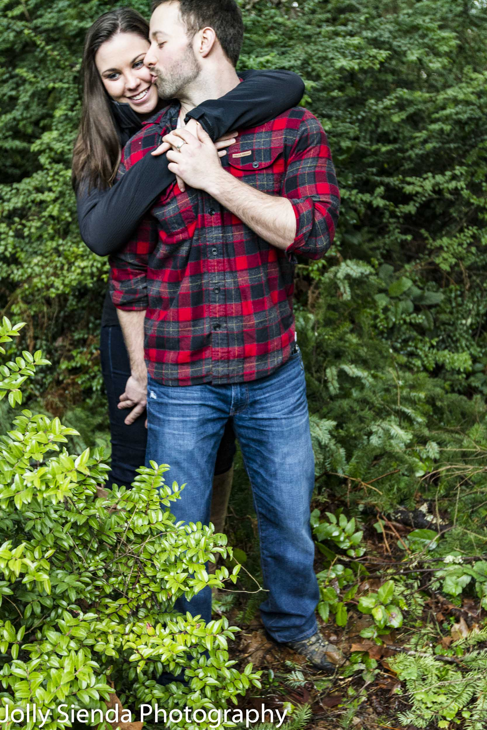 Outdoor forest engagement photo shoot