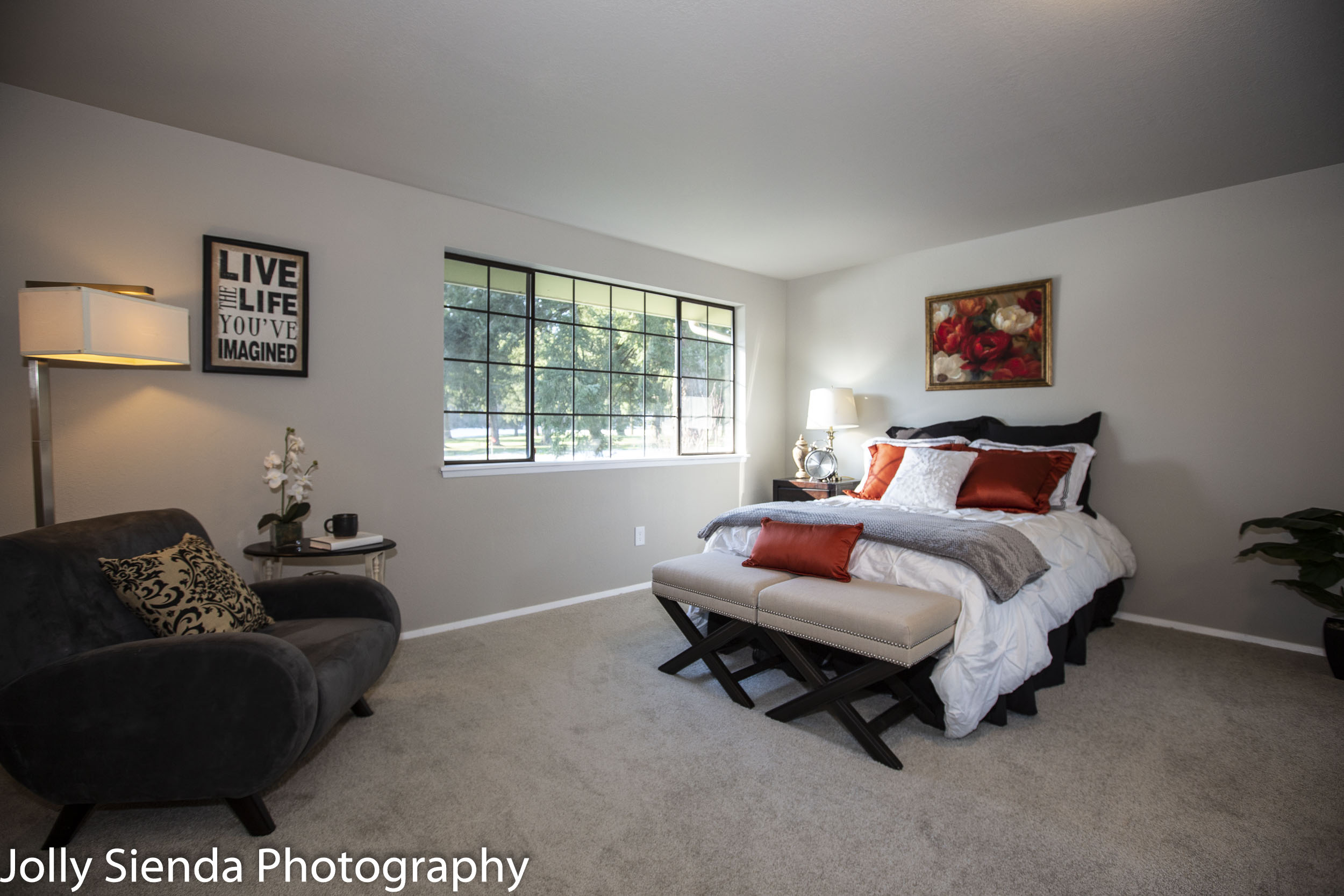 Master bedroom and natural window light