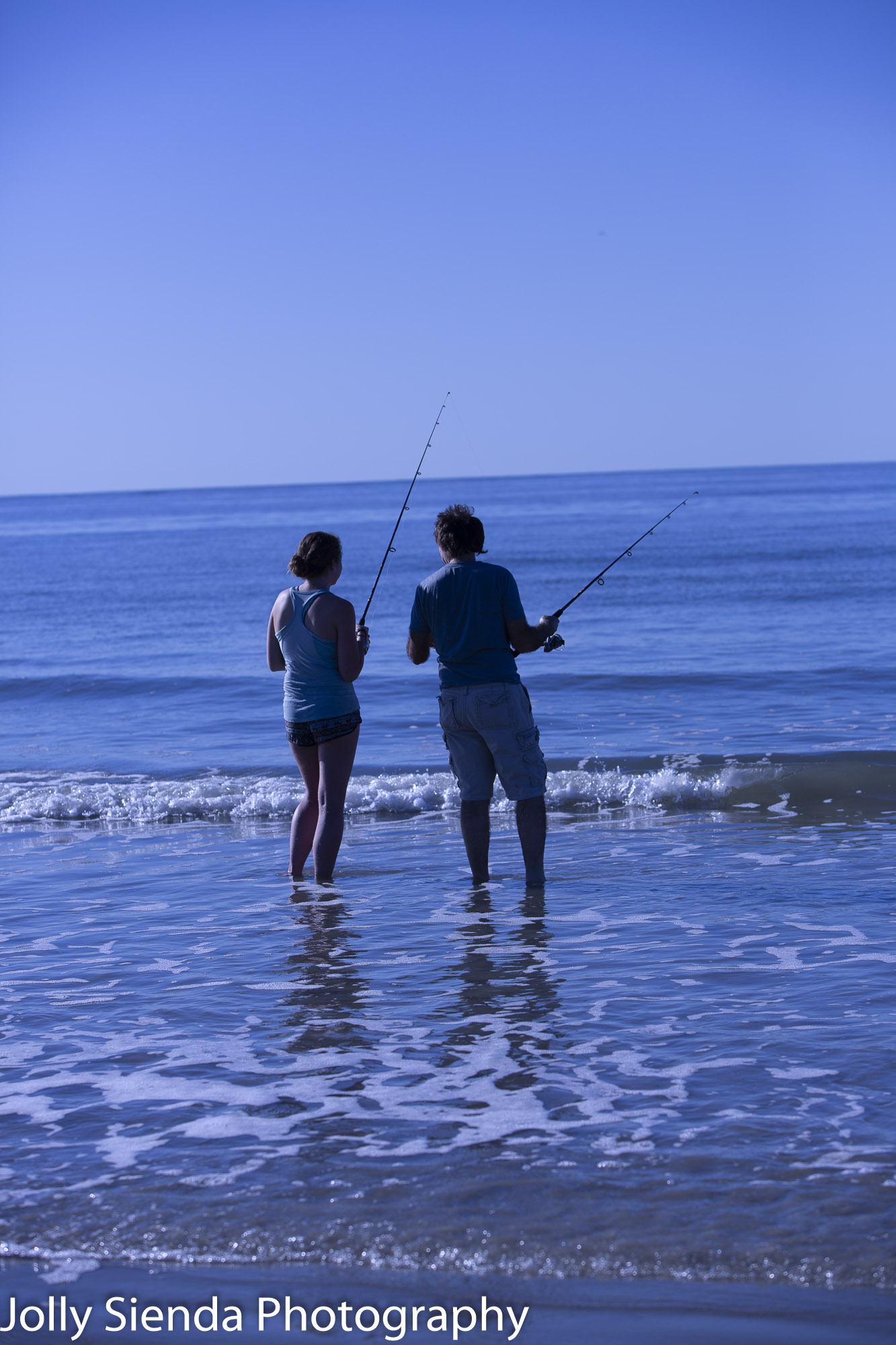 Fishing at the beach on Fripp Island