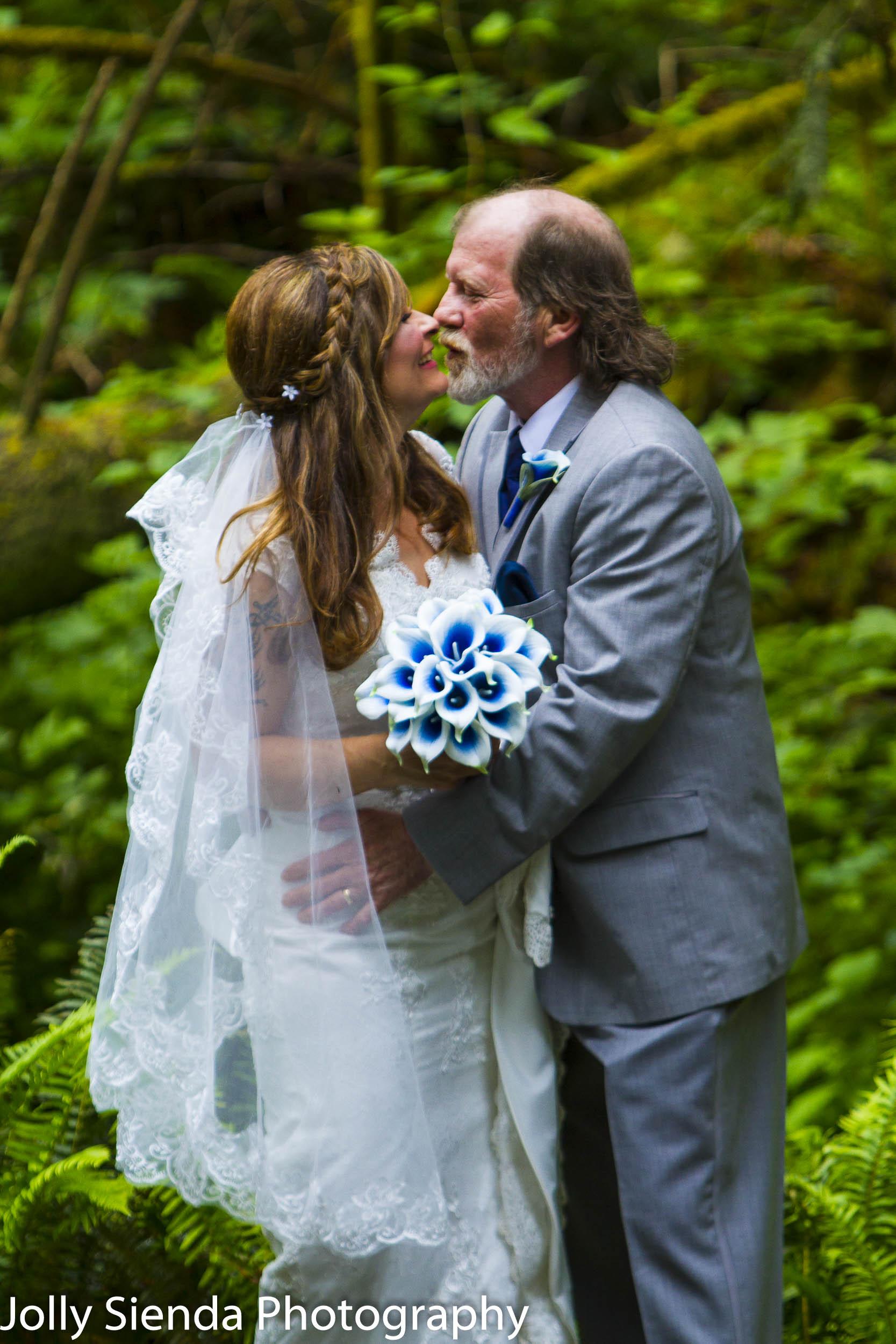 Beautiful bride and groom portrait wedding photography