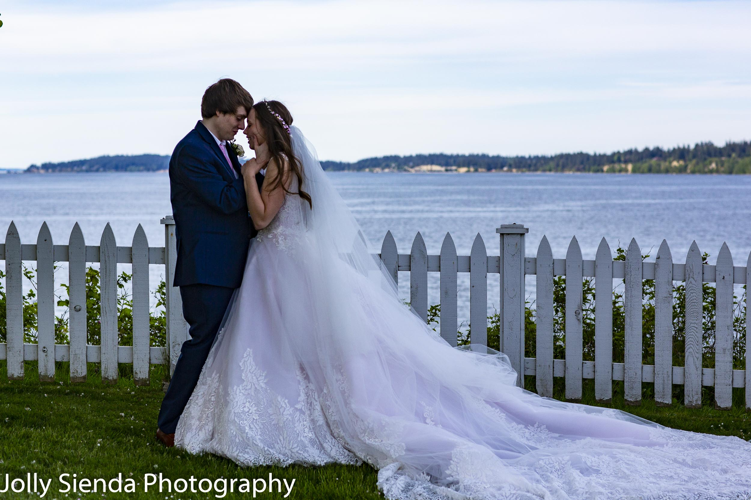 Lily and Aaron at Port Gamble by the sea.