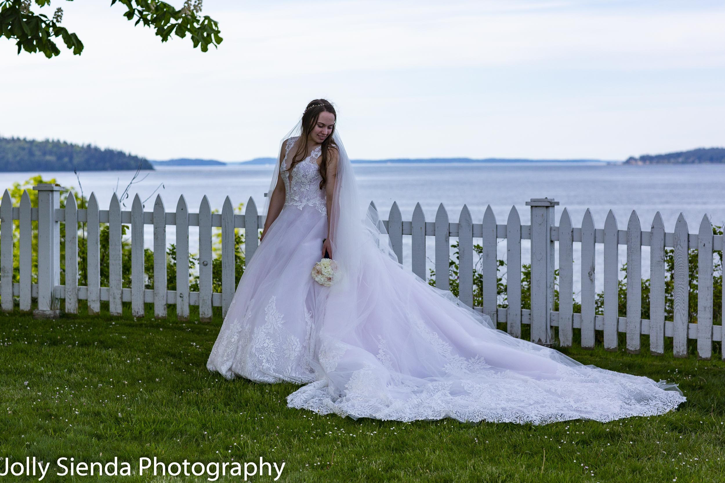 Bridal portrait of Lily at Port Gamble, WA.