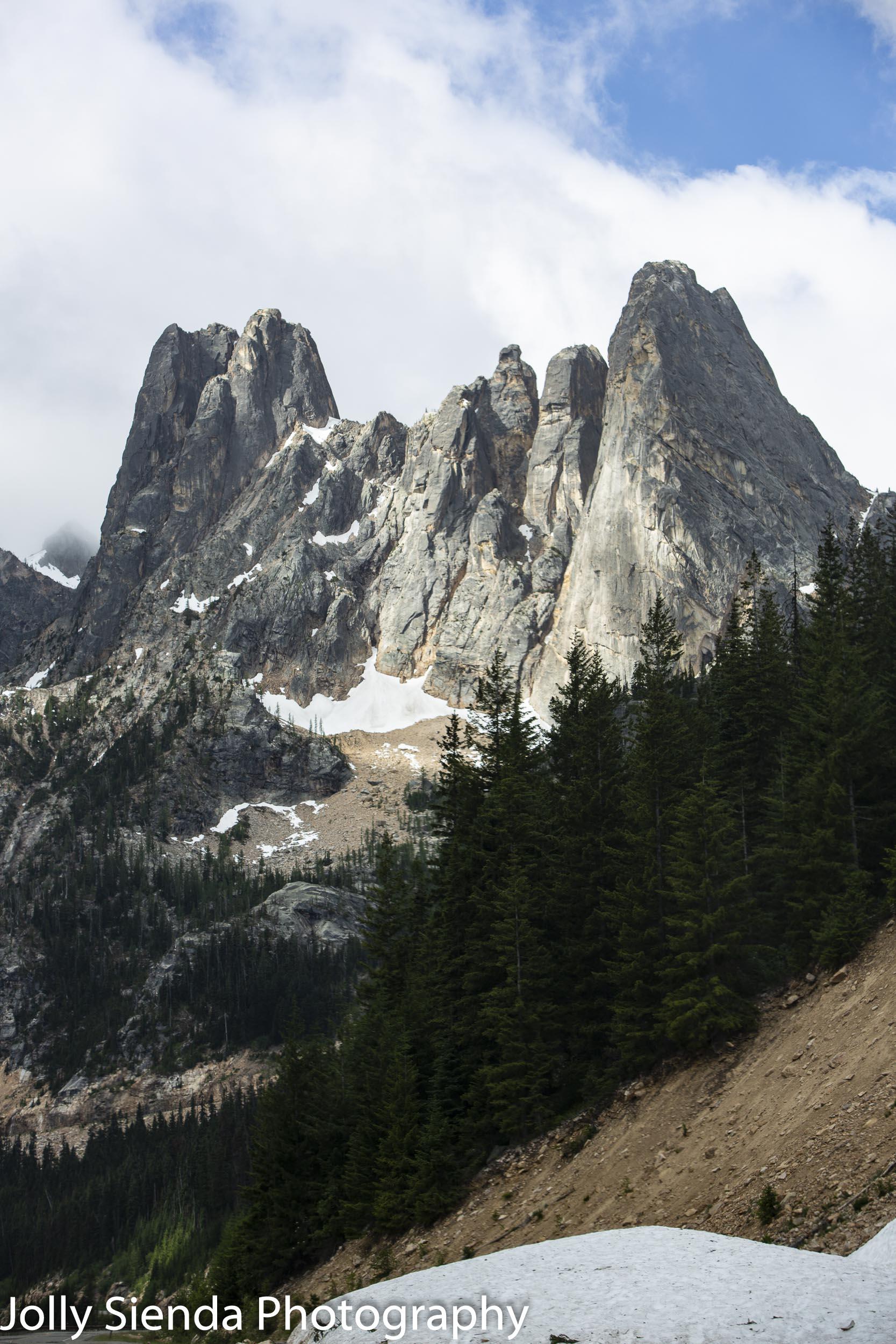 Twin peaks, Mount Shuksan, North Cascade Mountains