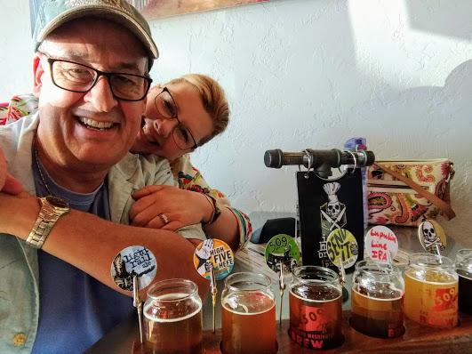We enjoyed sampling beers at Iron Horse Brewery in Ellensberg, WA.