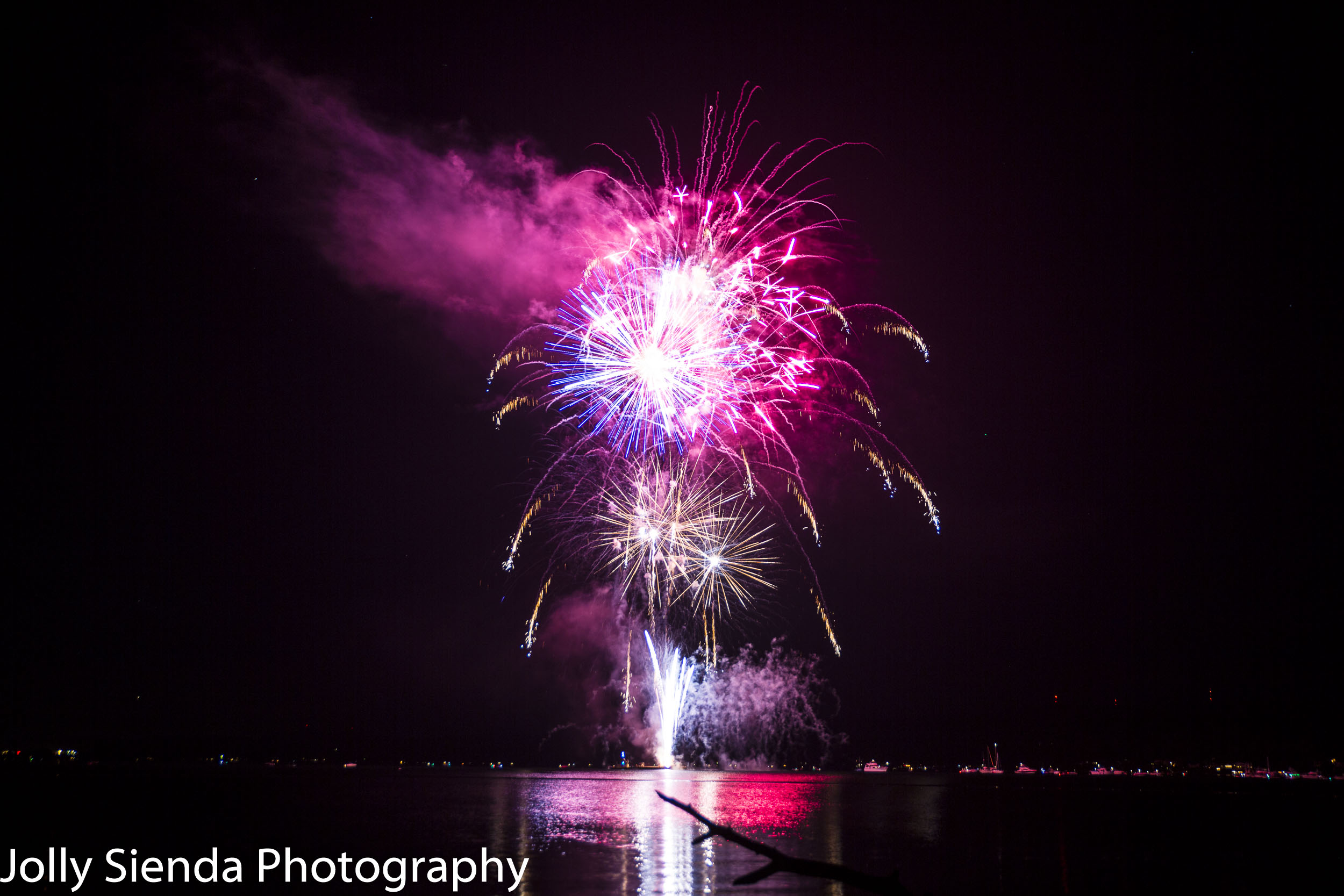 Firework celebration for Whaling Days, Silverdale, WA.