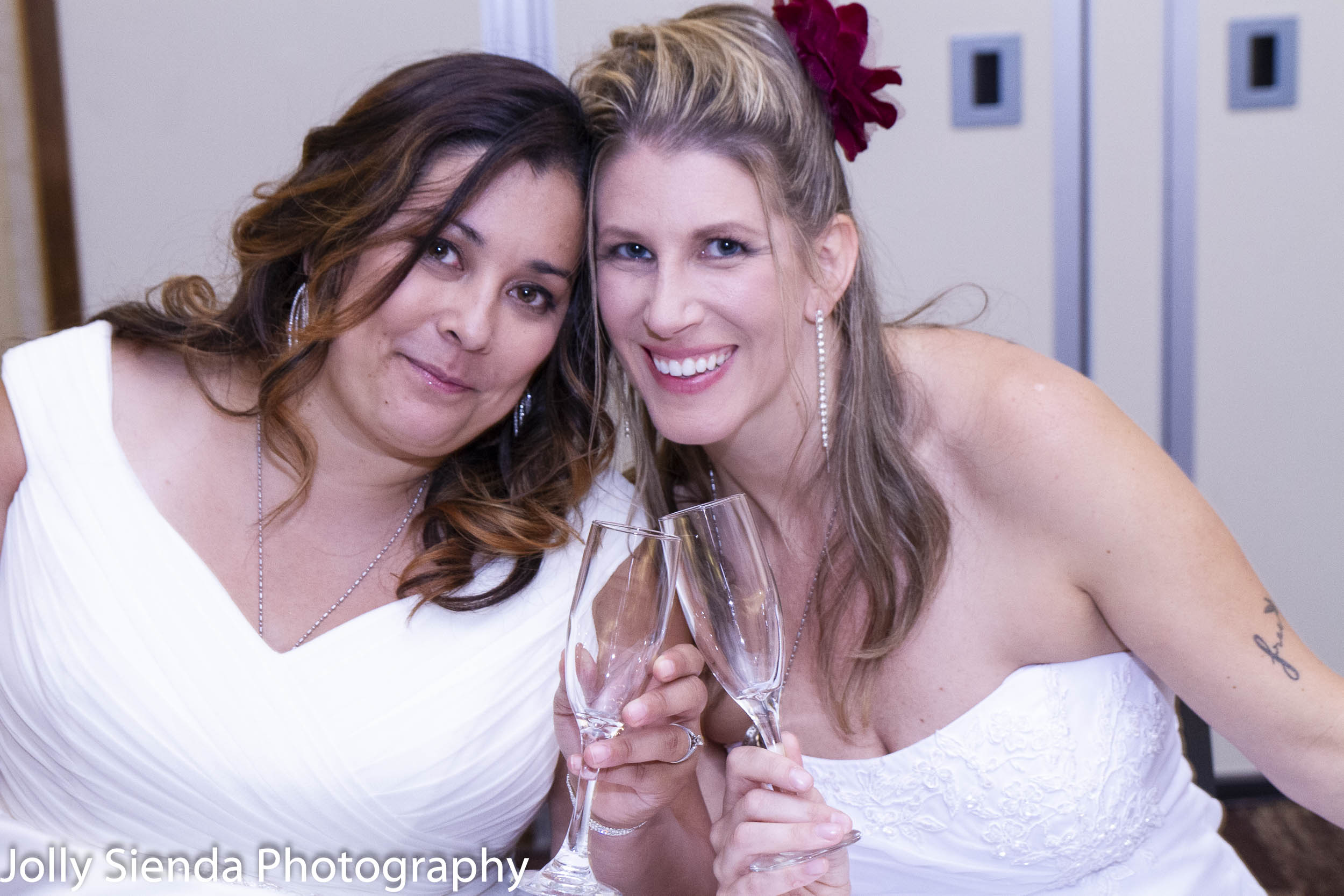Simply lovely — we're so very happy for Michelle and Nicole! Cheers!