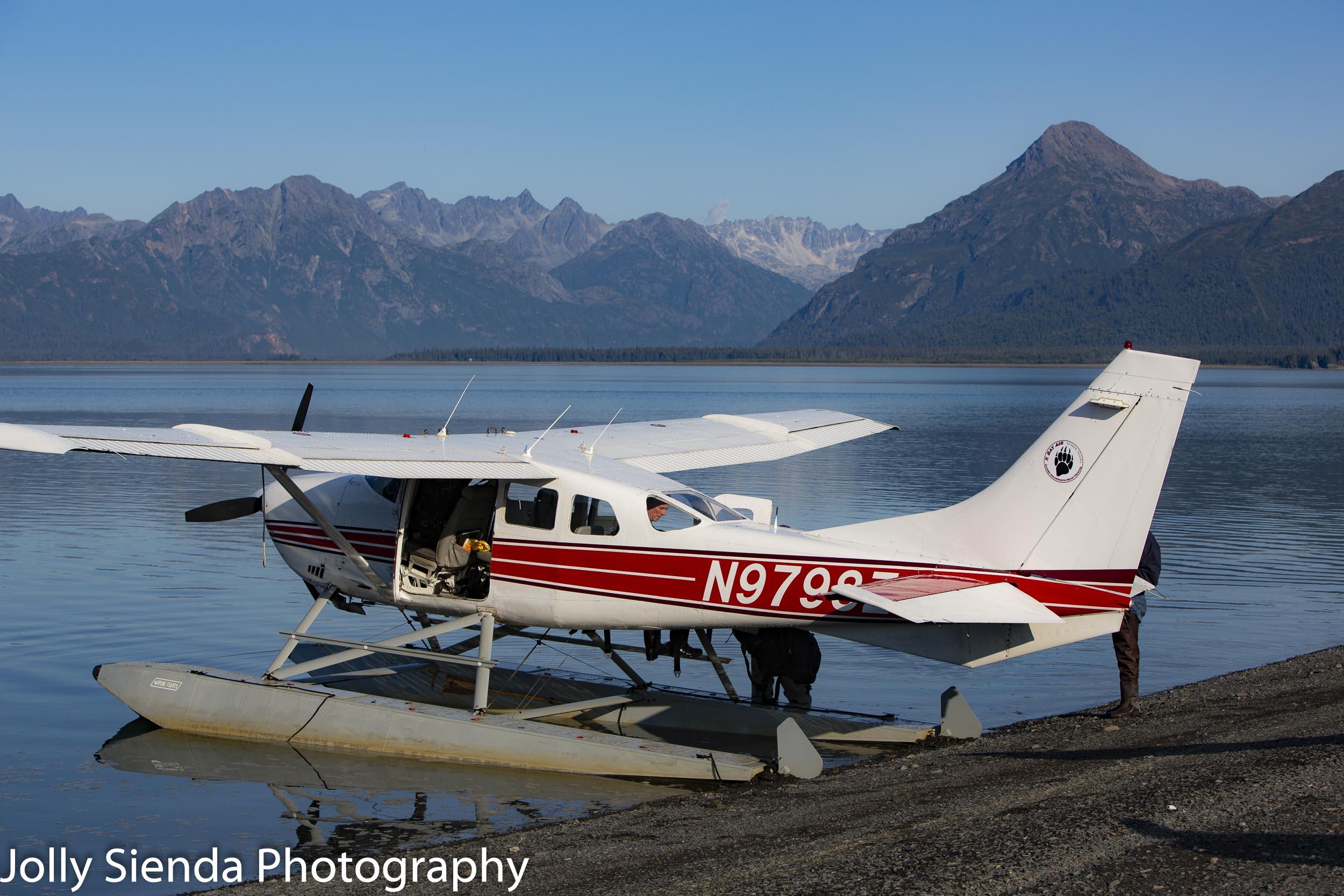 Arrived at Kachemak Bay via a float plane by courtesy of Alaska Bear Adventures