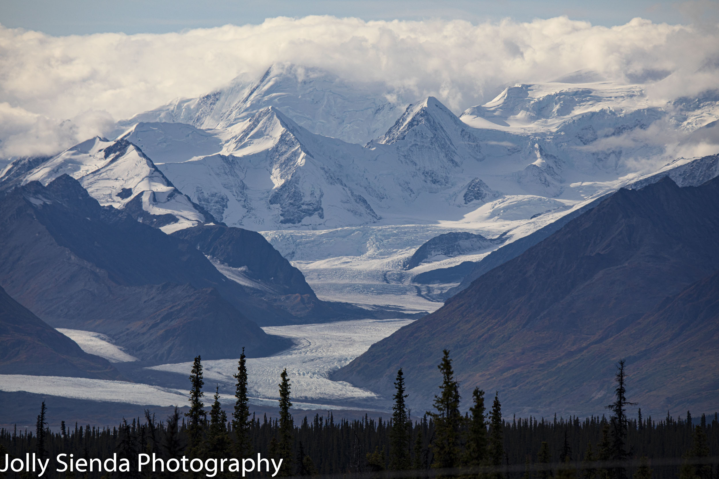 Knik Glacier view from the Glenn Highway, Alaska