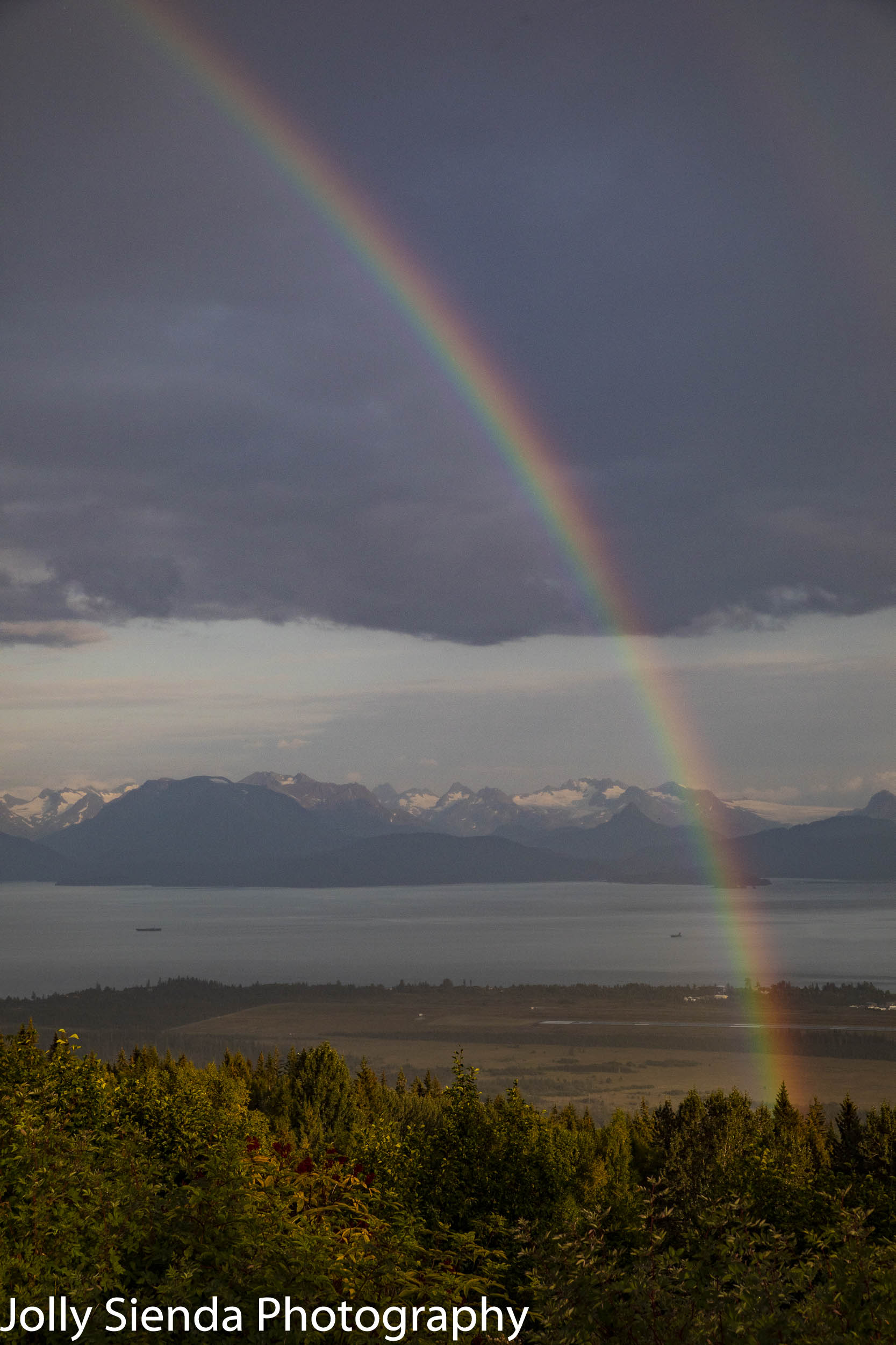 Rainbow over Kachemak Bay