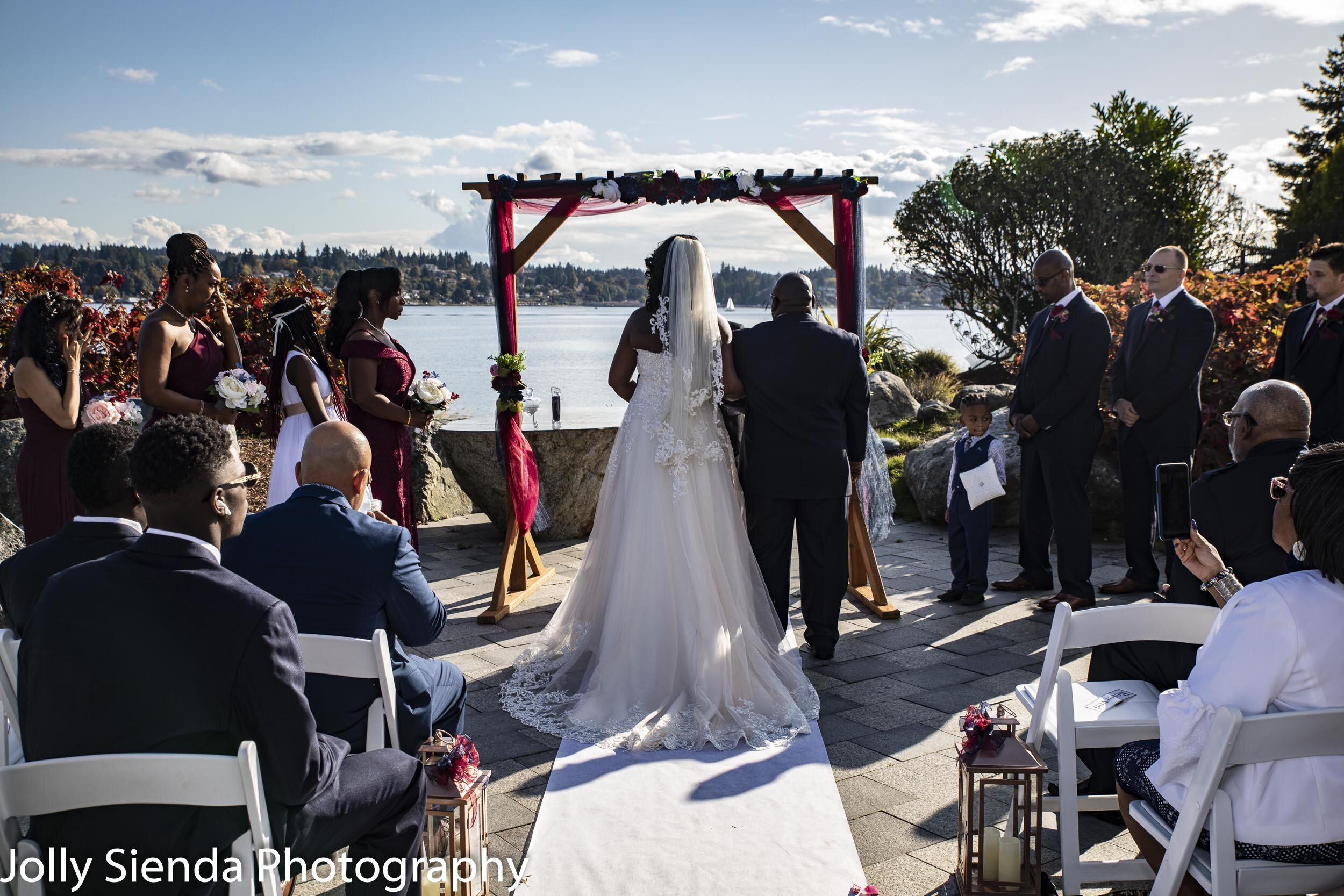Marina and Malcolm's wedding ceremony