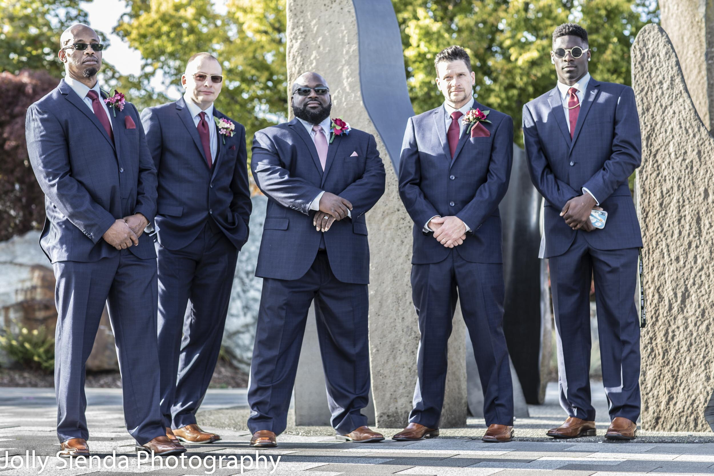 Malcolm with his groomsmen.