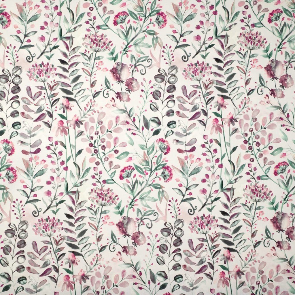 WHITWELL ROSE - Composition - 100% COTTONWidth Approx - 140cmVertical Repeat - 46.5cm