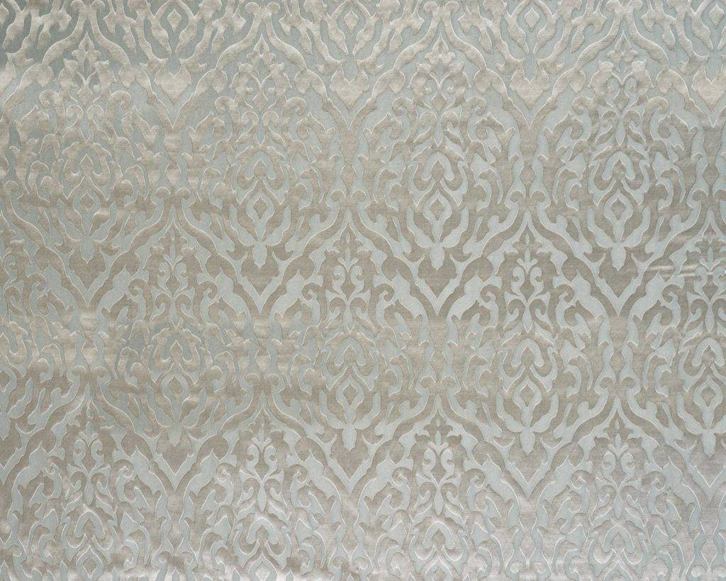 DAHLIA SILVER - Composition - 35% VISCOSE 33% POLYESTER 32% COTTONWidth Approx - 138cmVertical Repeat - 48cmRub Test - 15,000