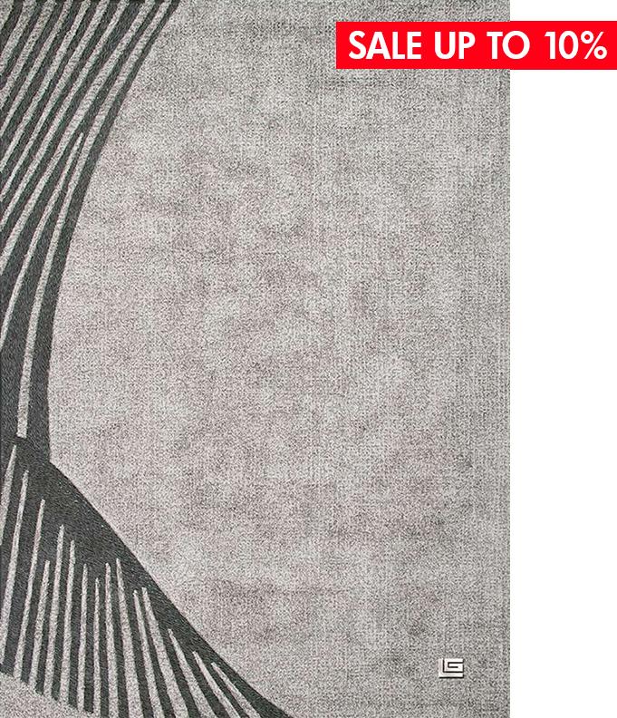 FAIRMONT SILVER - ● 160x230 cm● 85% tơ Viscose - 15% da bò● $ 1,387.0