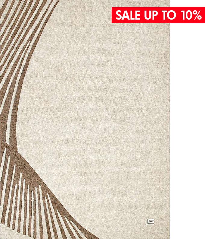 FAIRMONT ECRU - ● 190X290 cm● 85% tơ Viscose - 15% da bò● $ 1,812.0