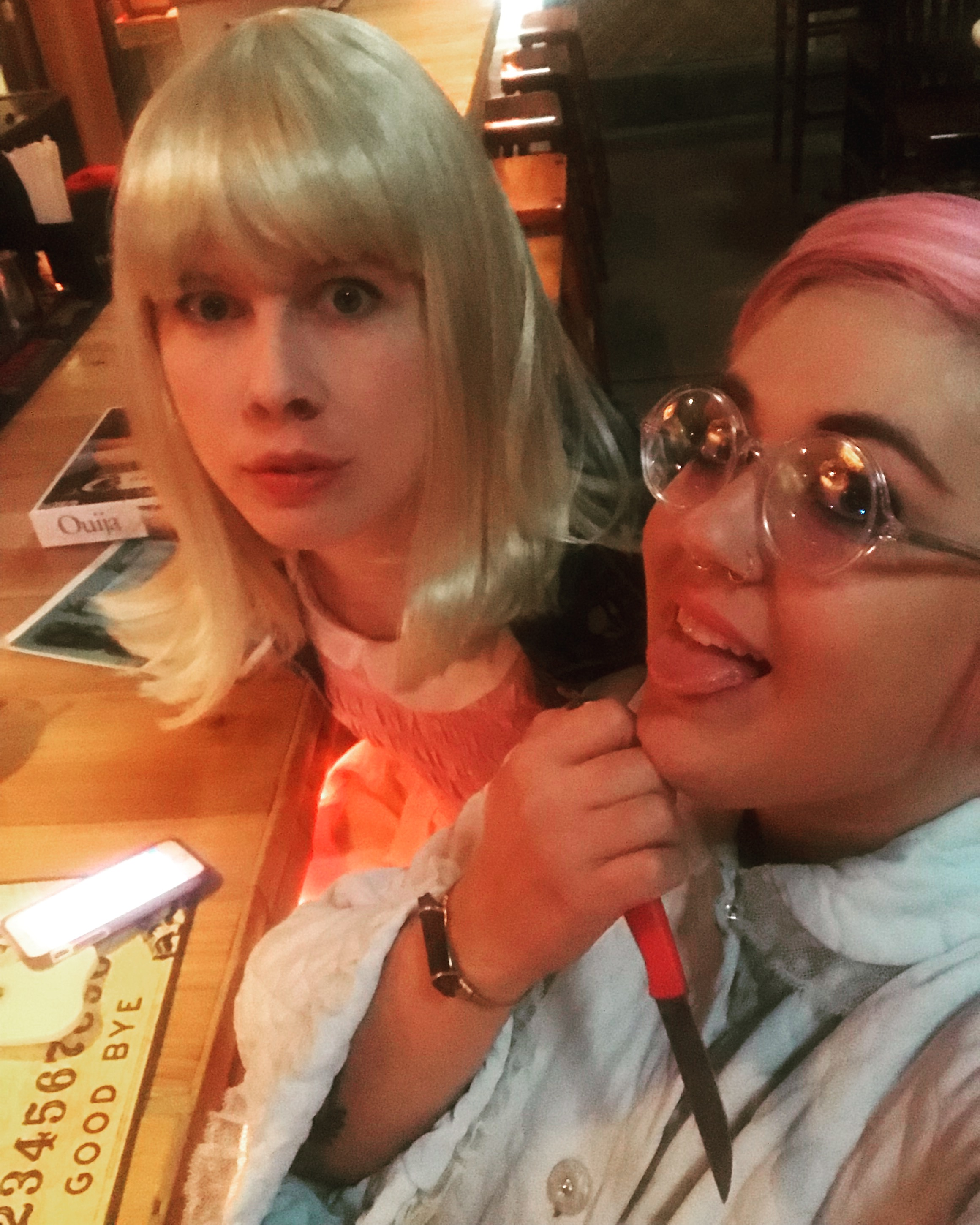 Eleven and Rosemary out on the town
