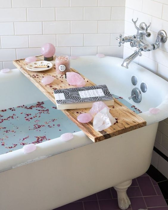 This pic is definitely from Pinterest but we HIGHLY RECOMMEND all that rose quartz if you have it.