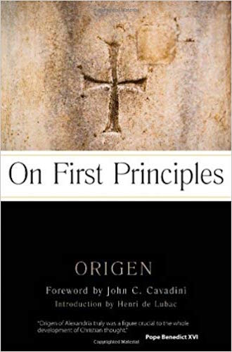 On First Principles: A foundational work in the development of Christian thought and doctrine. It is the first attempt in history at a systematic Christian theology.  by Origen Admantius  Content:  Advanced    Available at Amazon