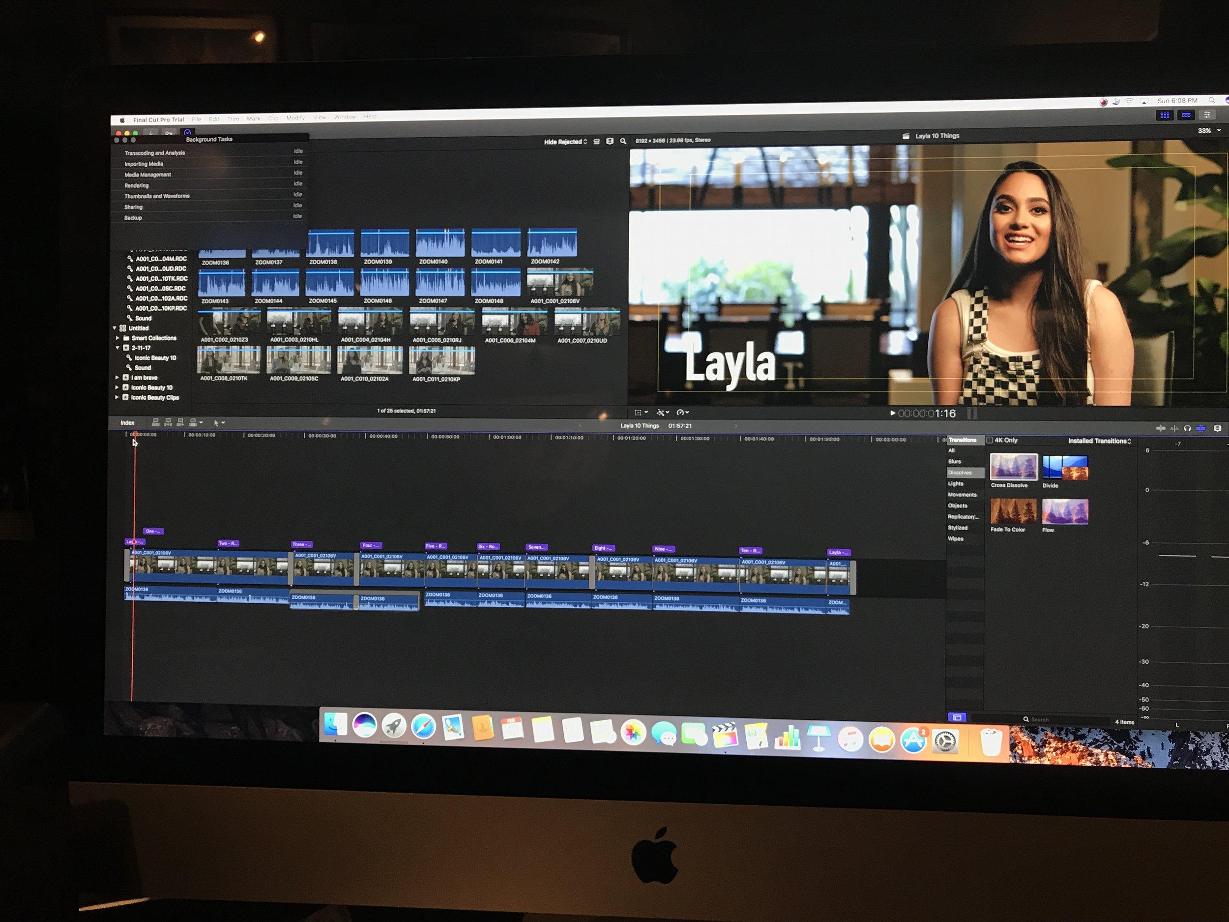 Final Cut Editing in 5K