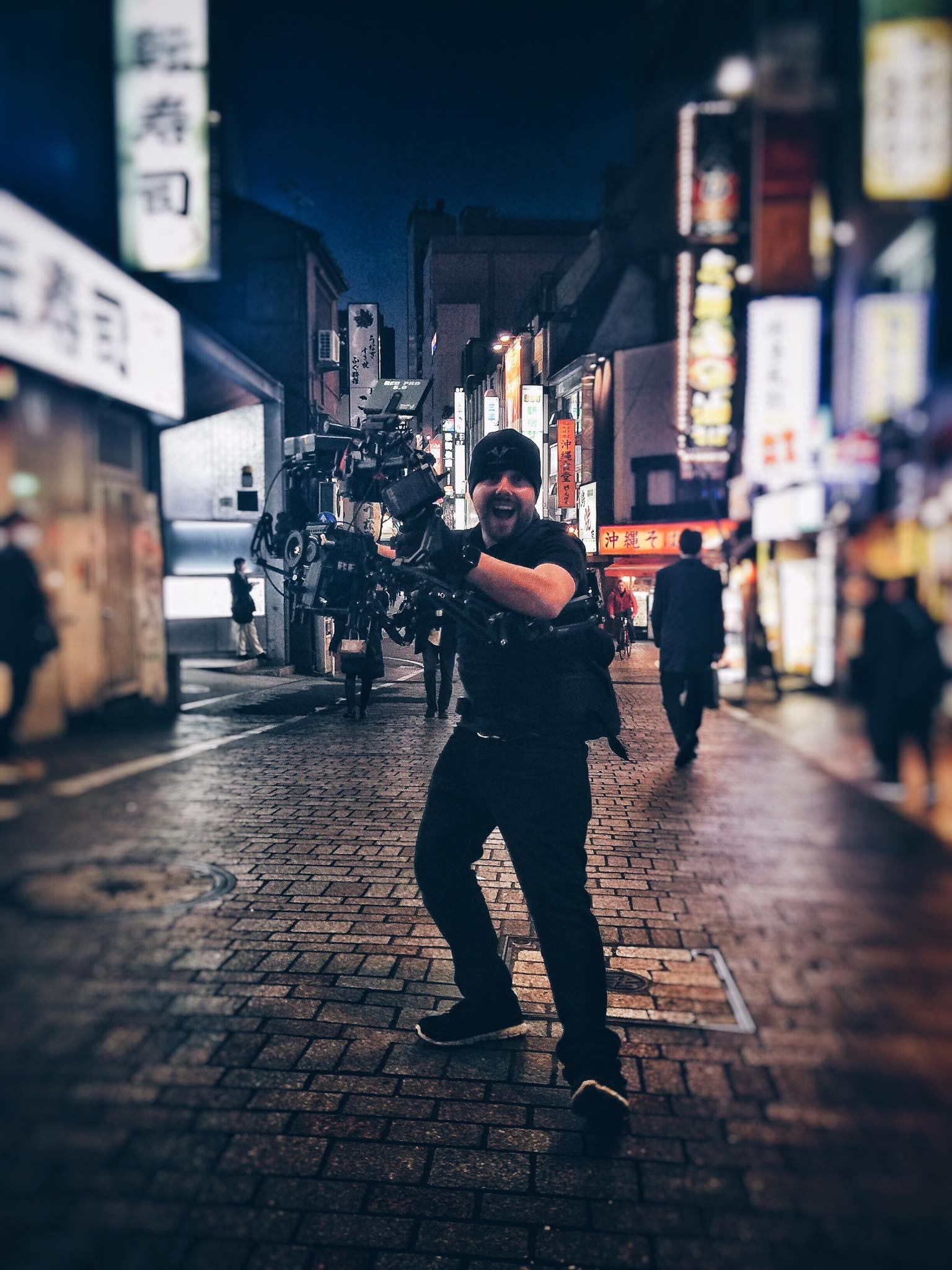Chris McKechnie on location in Tokyo.