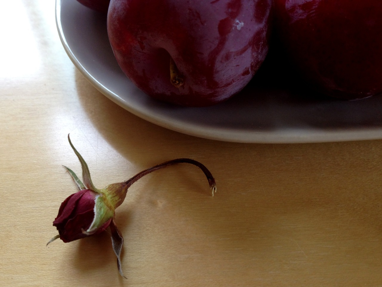 Summer fruit and a flower