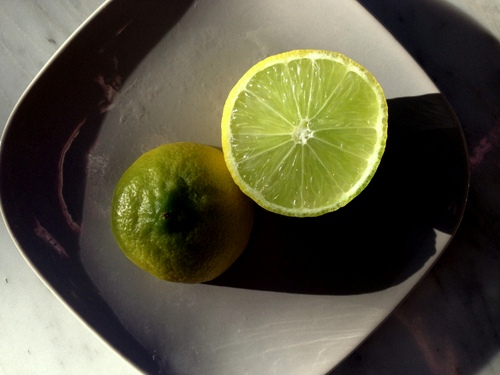 Lime and light.