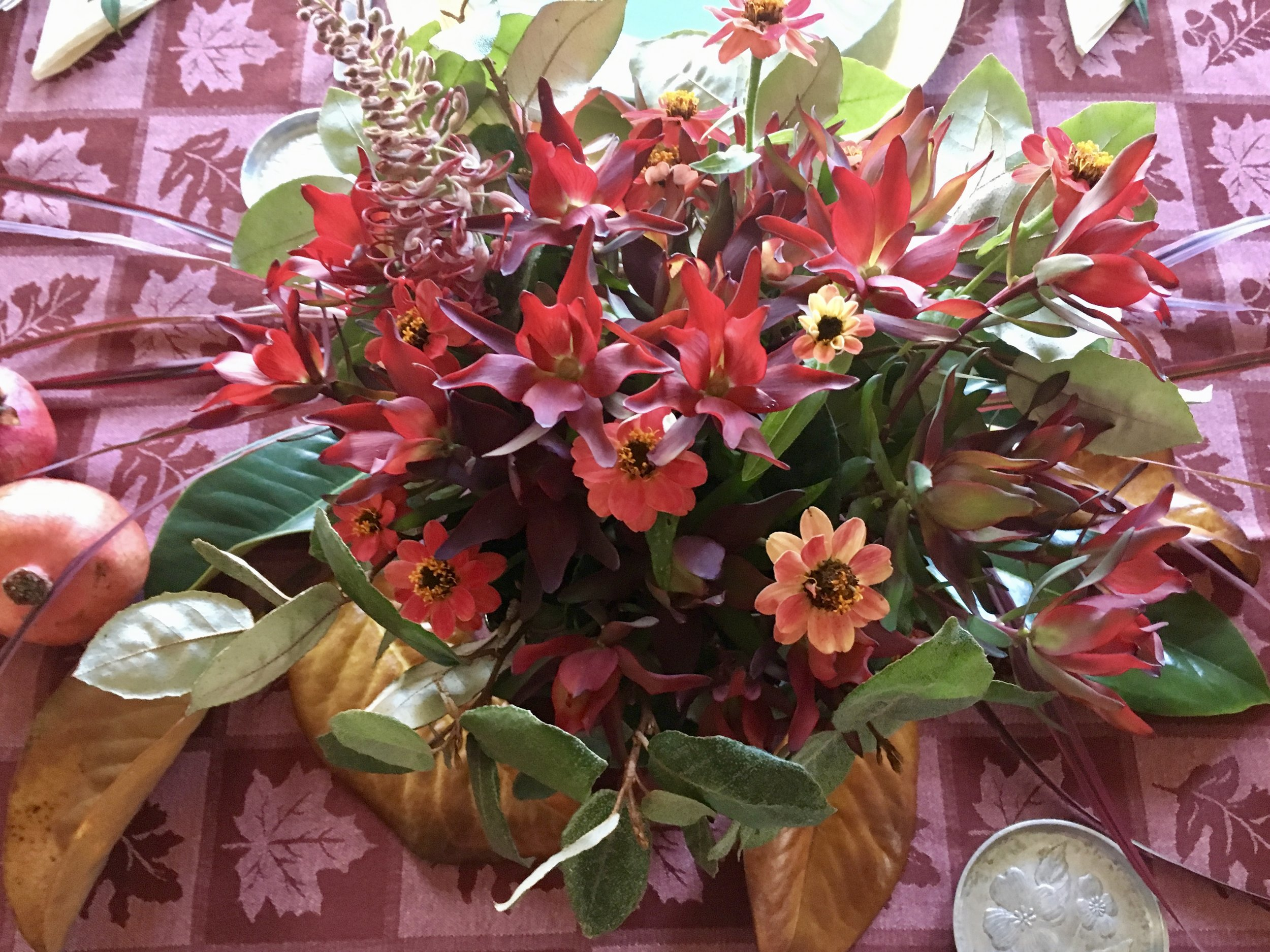The Thanksgiving table bouquet