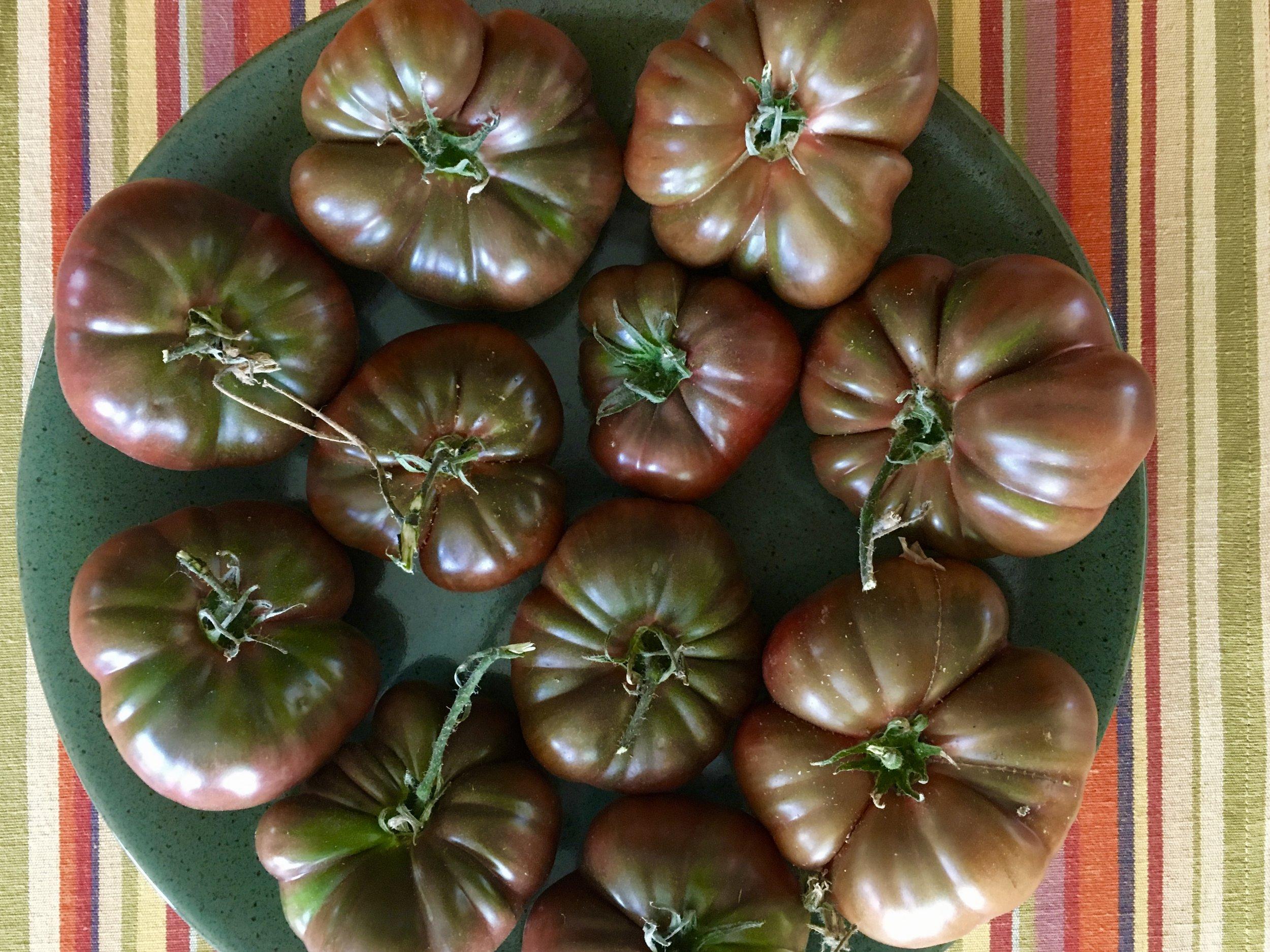 'Black Krim' tomatoes
