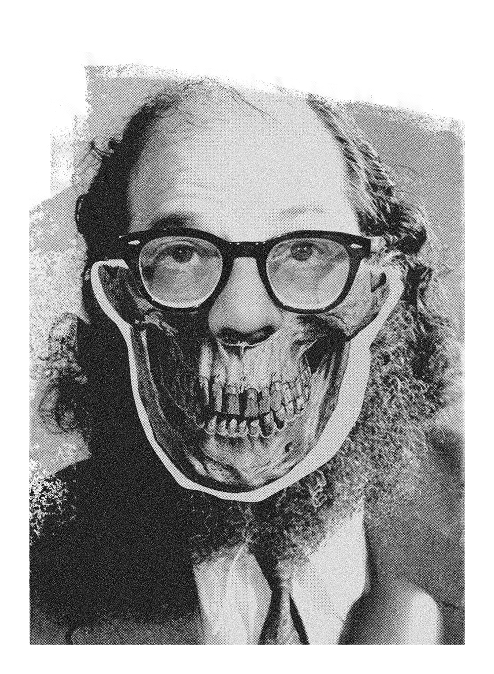Allen Ginsberg - Illustration by Julie Smits for This Savage Beauty