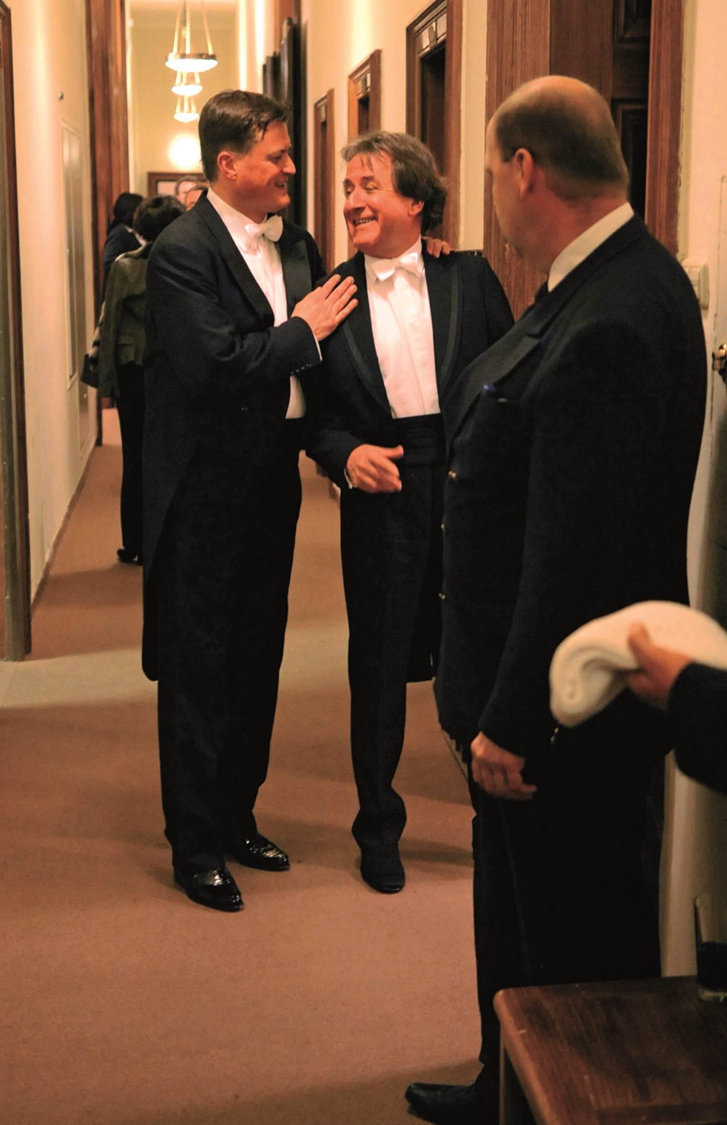 After a concert with the Staatskapelle Dresden and Christian Thielemann, Musikverein Wien © Matthias Creutziger
