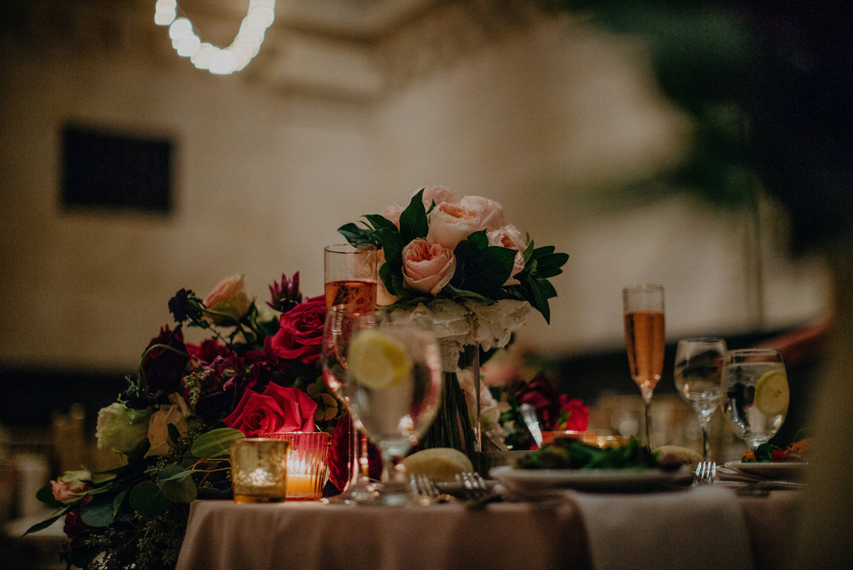 Cincinnati Art Museum wedding with florals by Yellow Canary Floral & Event Design. Yellow Canary is located in historic Covington, KY. Available for destination weddings. Photo: Nicole Leone Photography