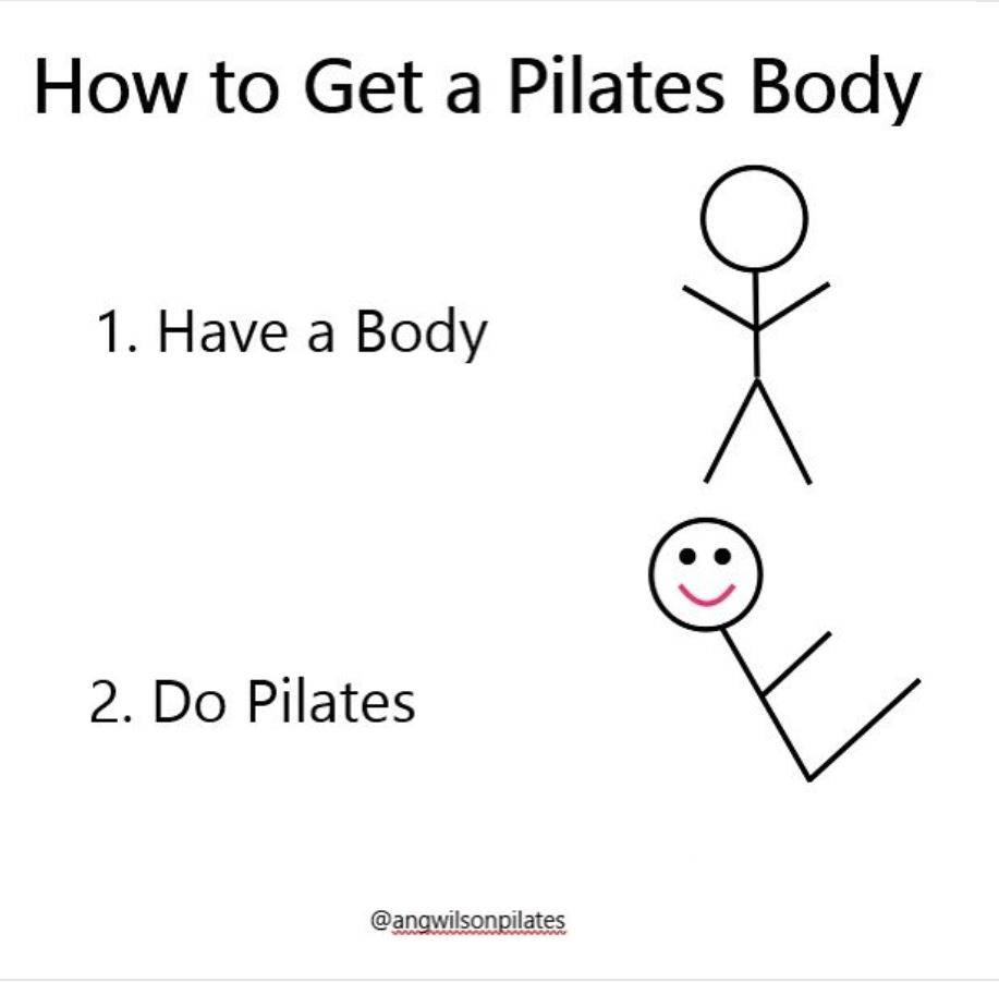 Pilates meme from @angwilsonpilates