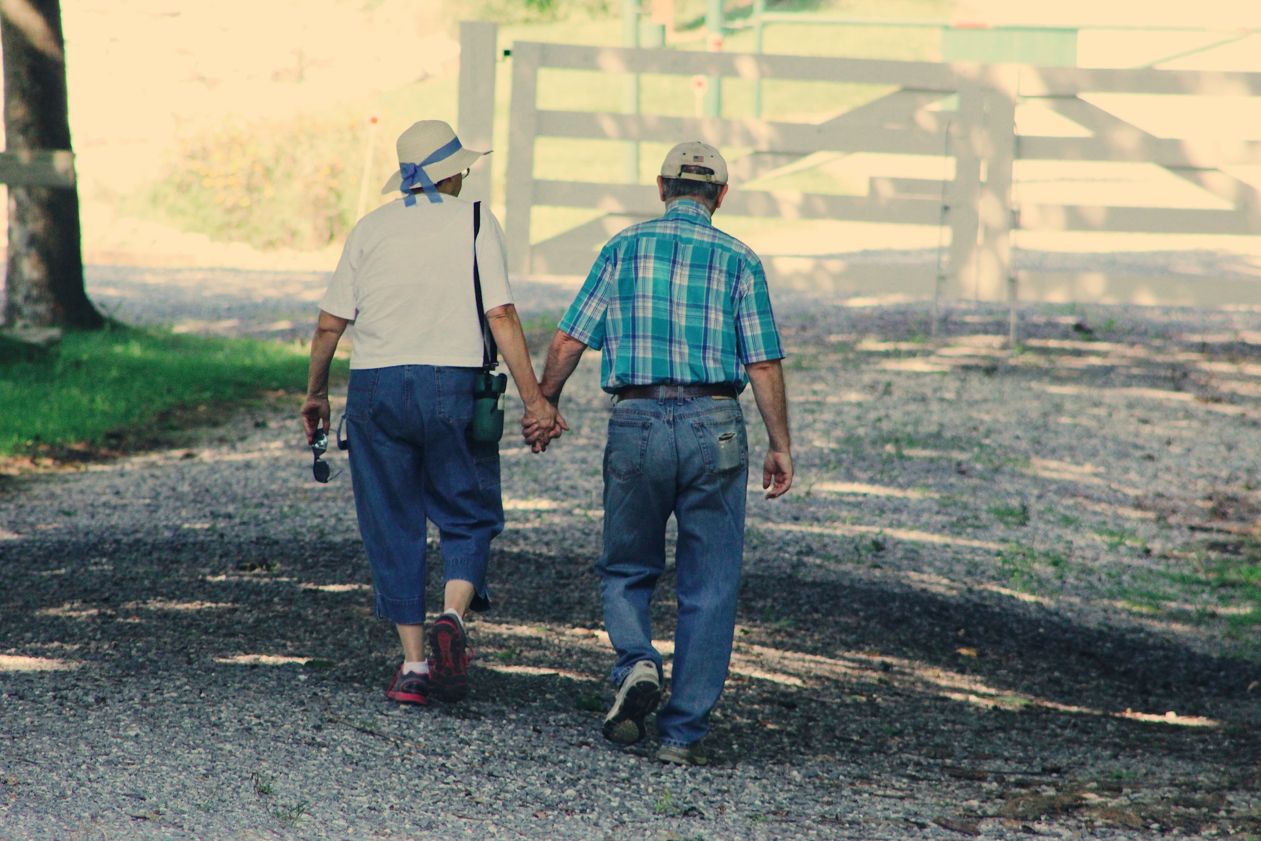 Short walks are not only peaceful, but can also help reduce swelling!