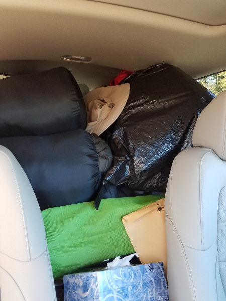 - The car seemed very full when we left home and was full to the brim coming back since we didn't manage to pack as well. It's a good thing we has freed up space by eating the food we took!