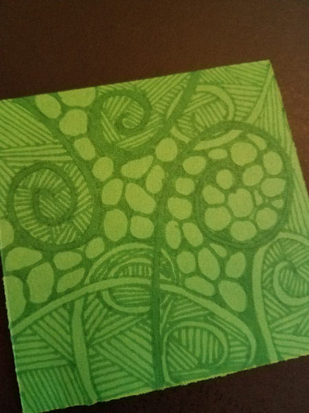 - I was thinking about spirals so much that my next Zentangle included a lot of them!