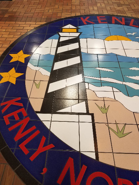- The next stop was a large truck stop in Kenly, North Carolina- with a large tile mosaic in the entry.