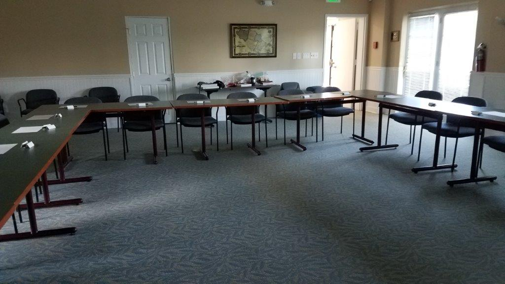 - At Belmont, the session was on a hot afternoon and the campers appreciated the time to cool off inside. I took a picture of the room before the campers arrived – the cool and calm before a flurry of activity.